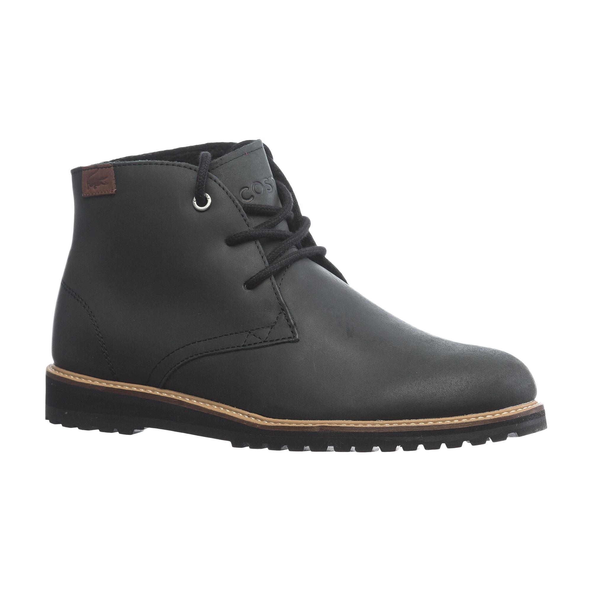 женские ботинки lacoste, черные