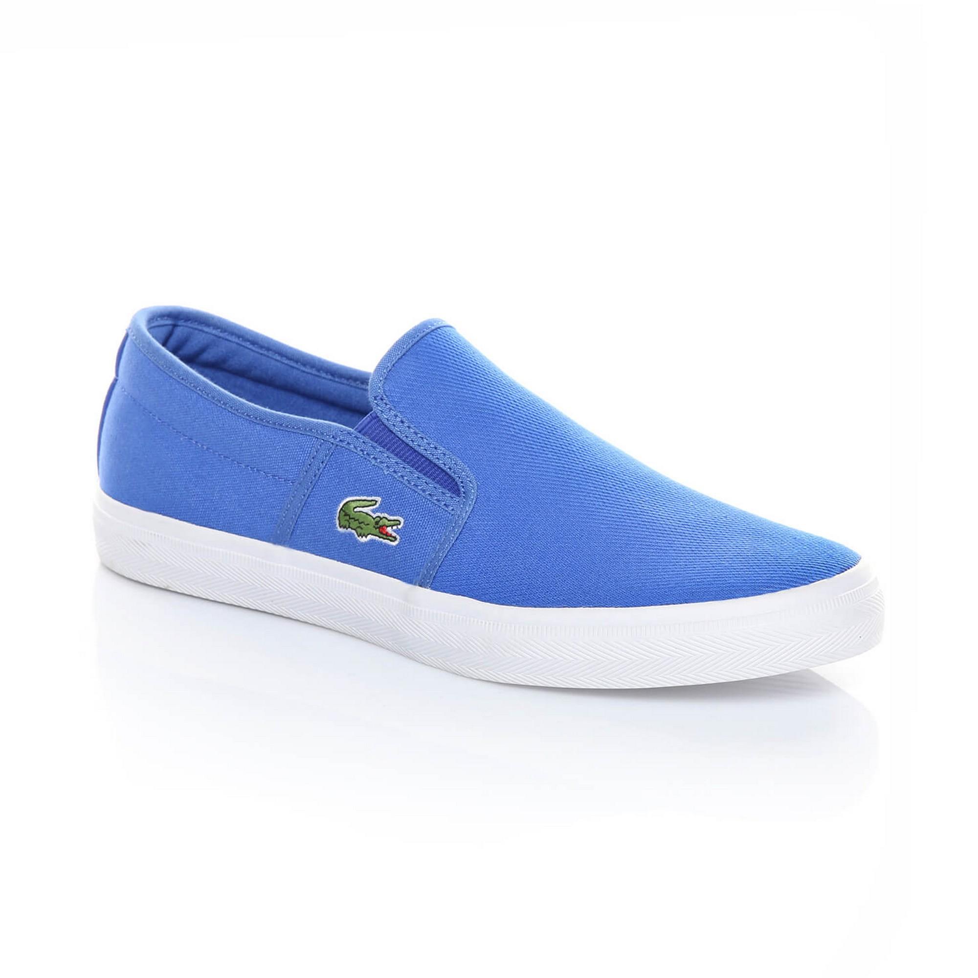 Слипоны  голубой цвета