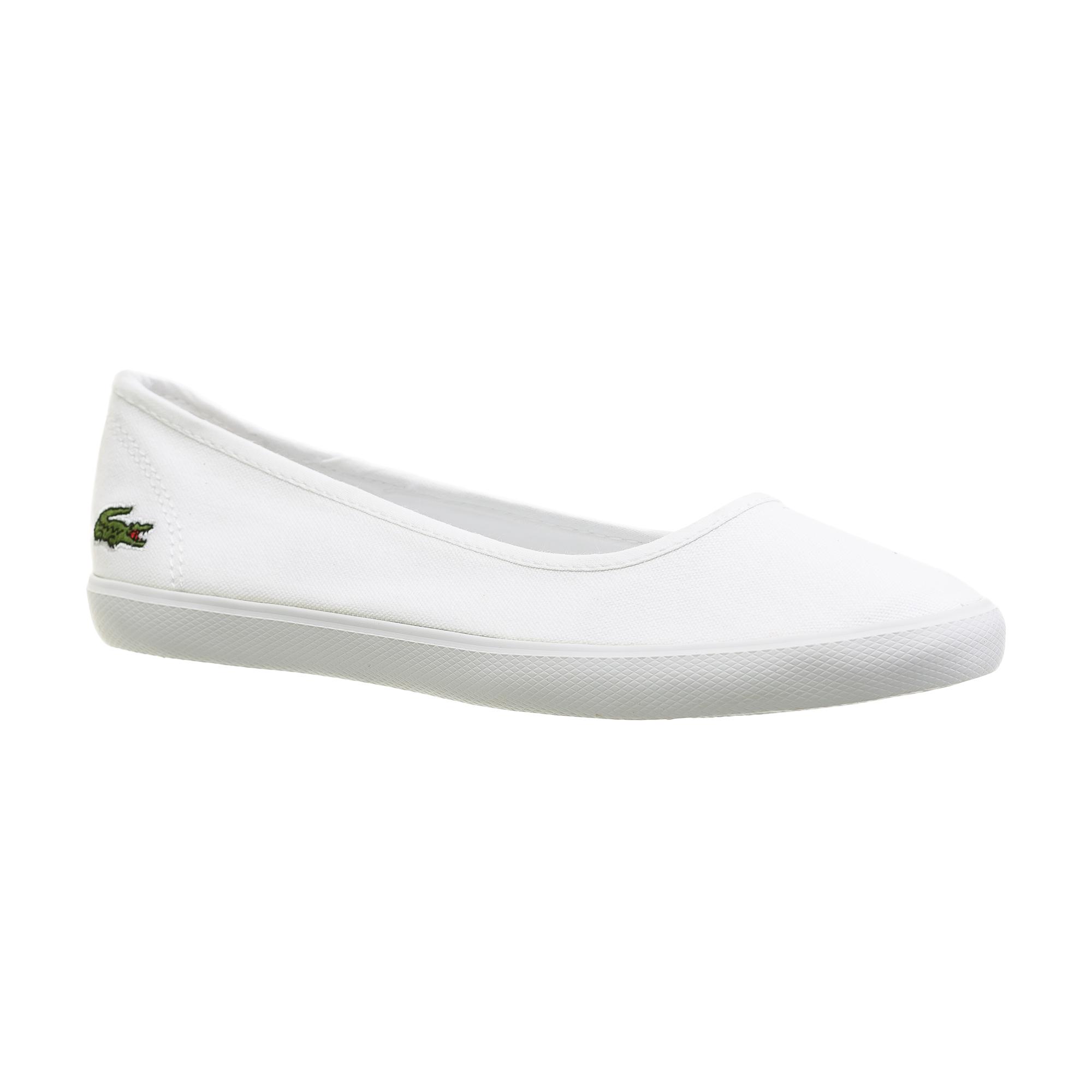 женские балетки lacoste, белые