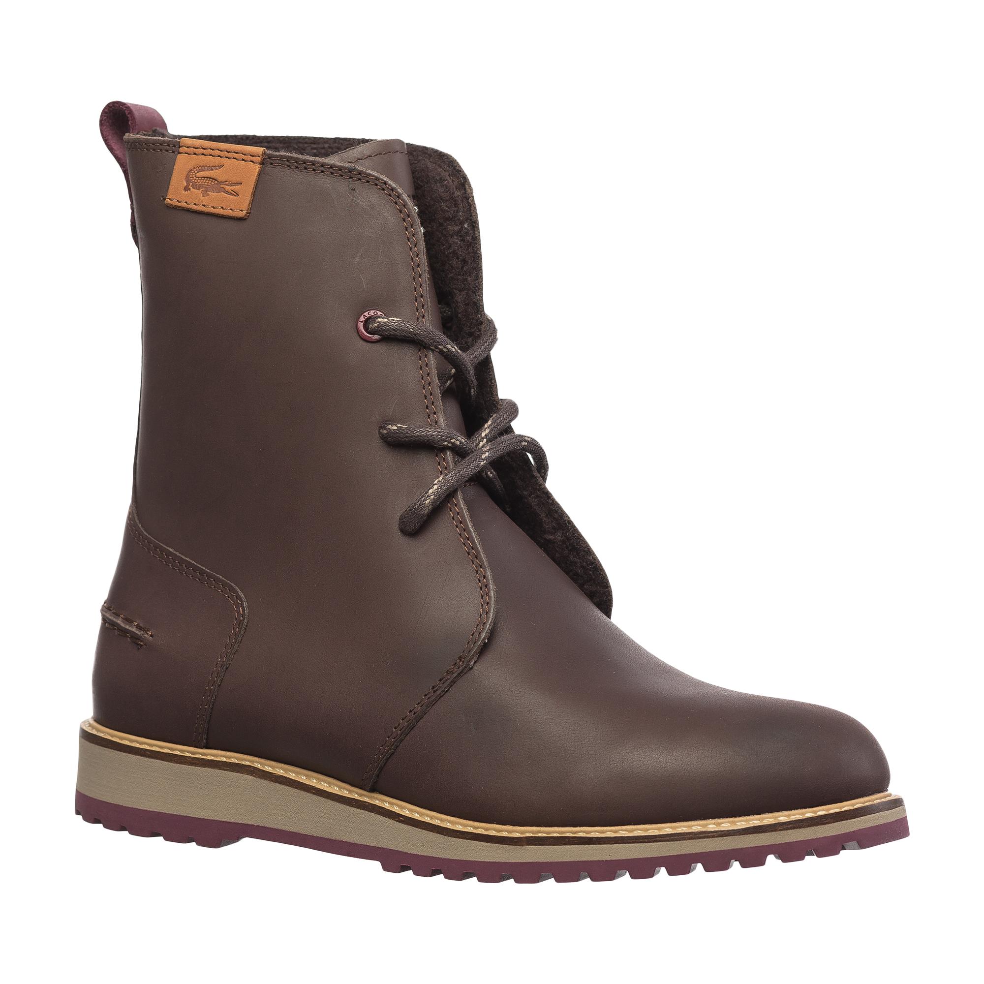 женские ботинки lacoste, коричневые