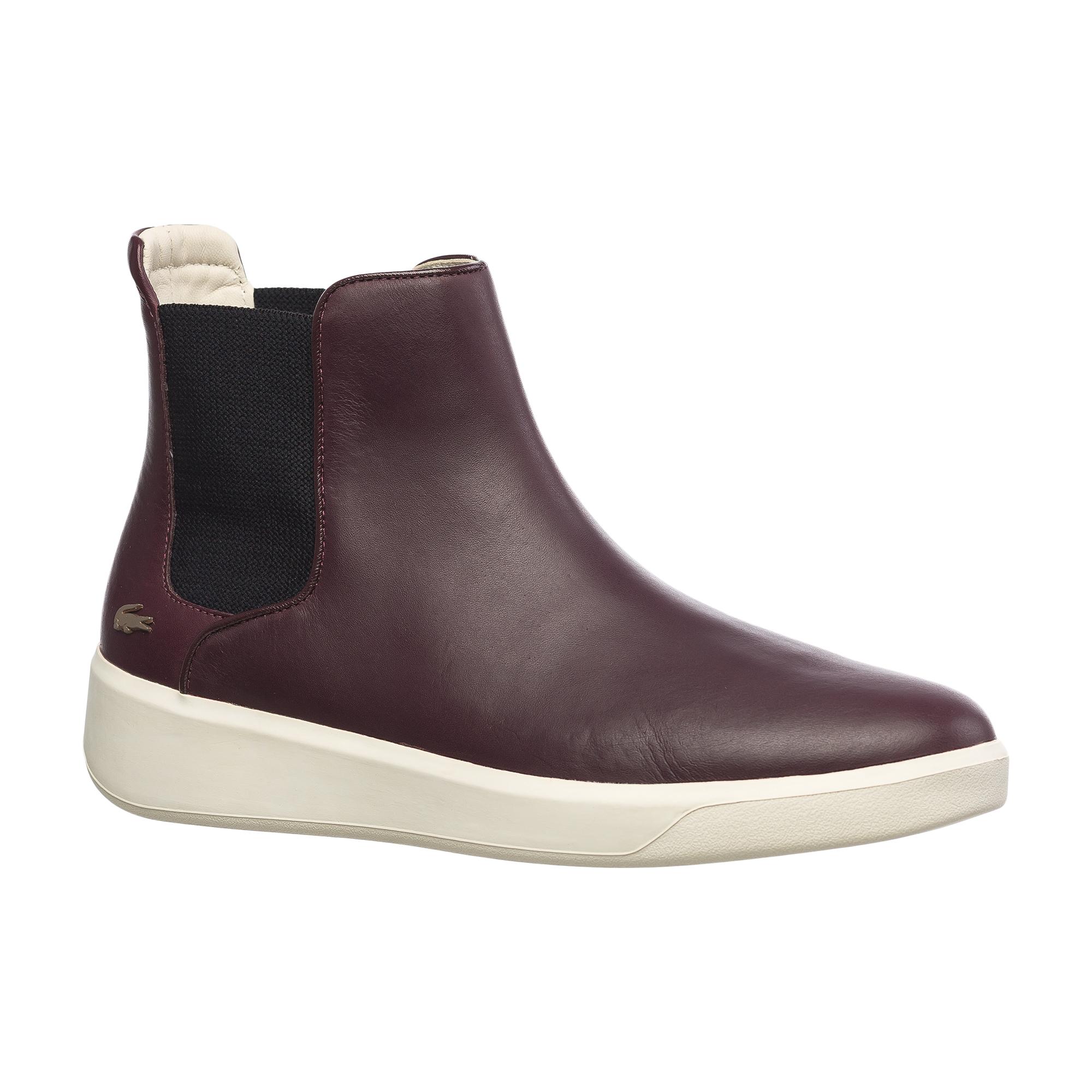 Ботинки  - бордовый цвет