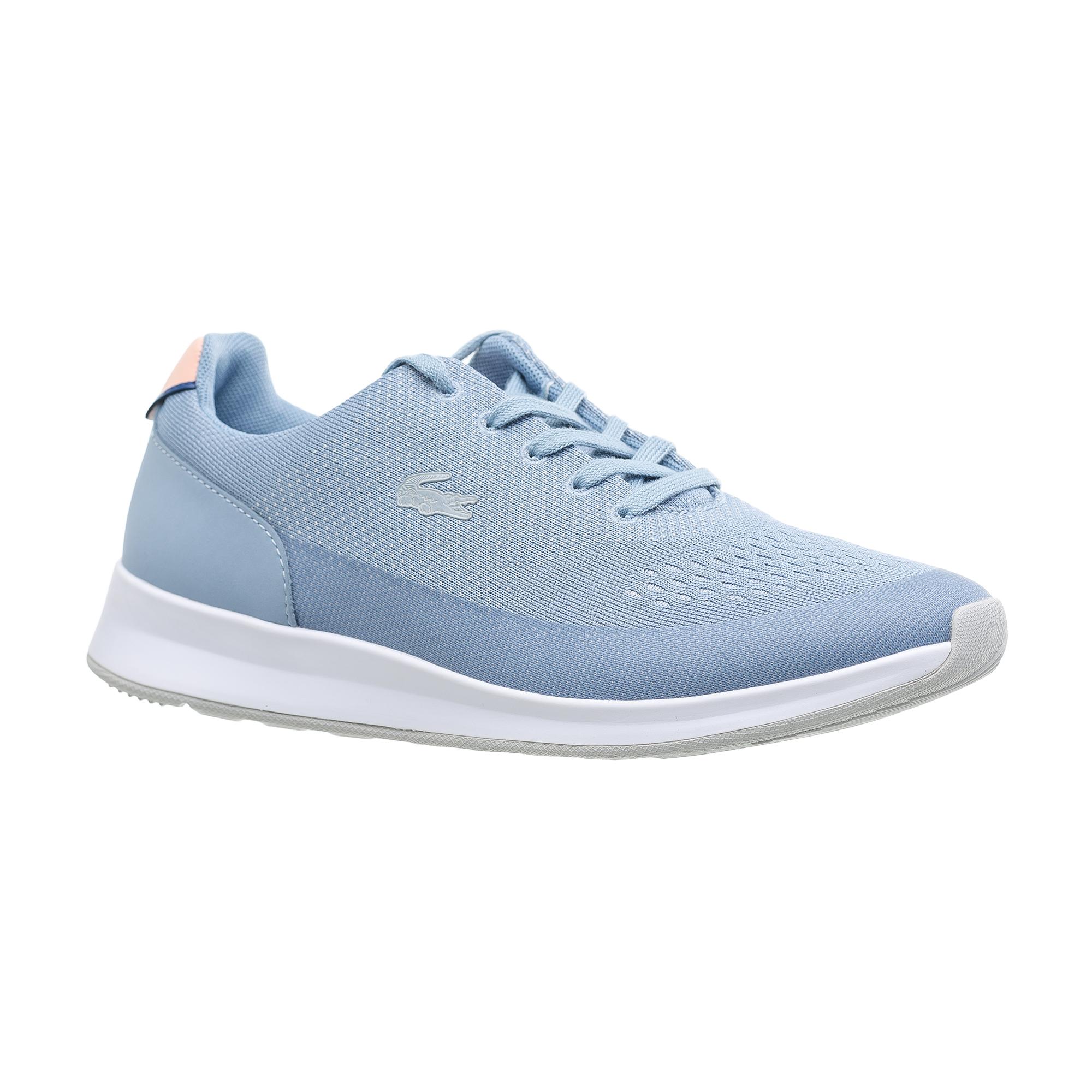 женские кроссовки lacoste, голубые
