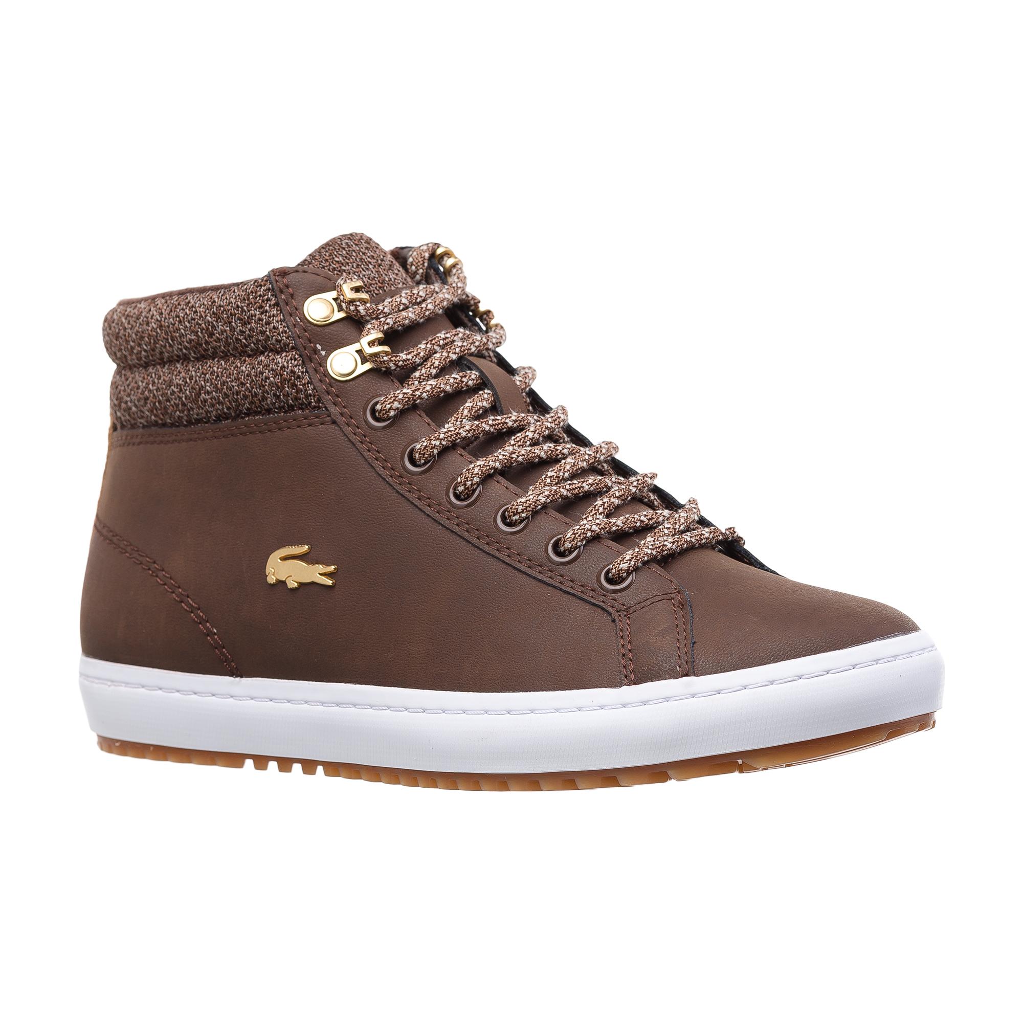 женские кроссовки lacoste, коричневые