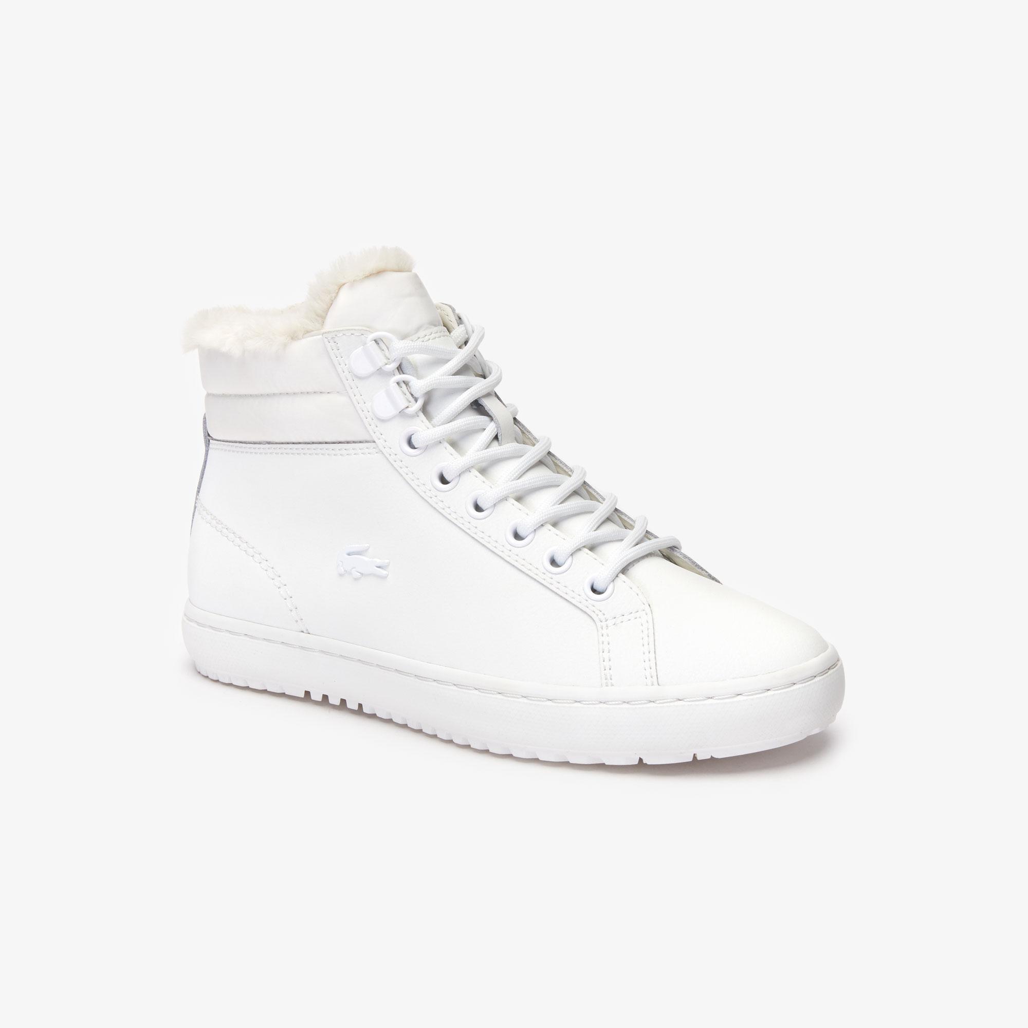 женские ботинки lacoste, белые