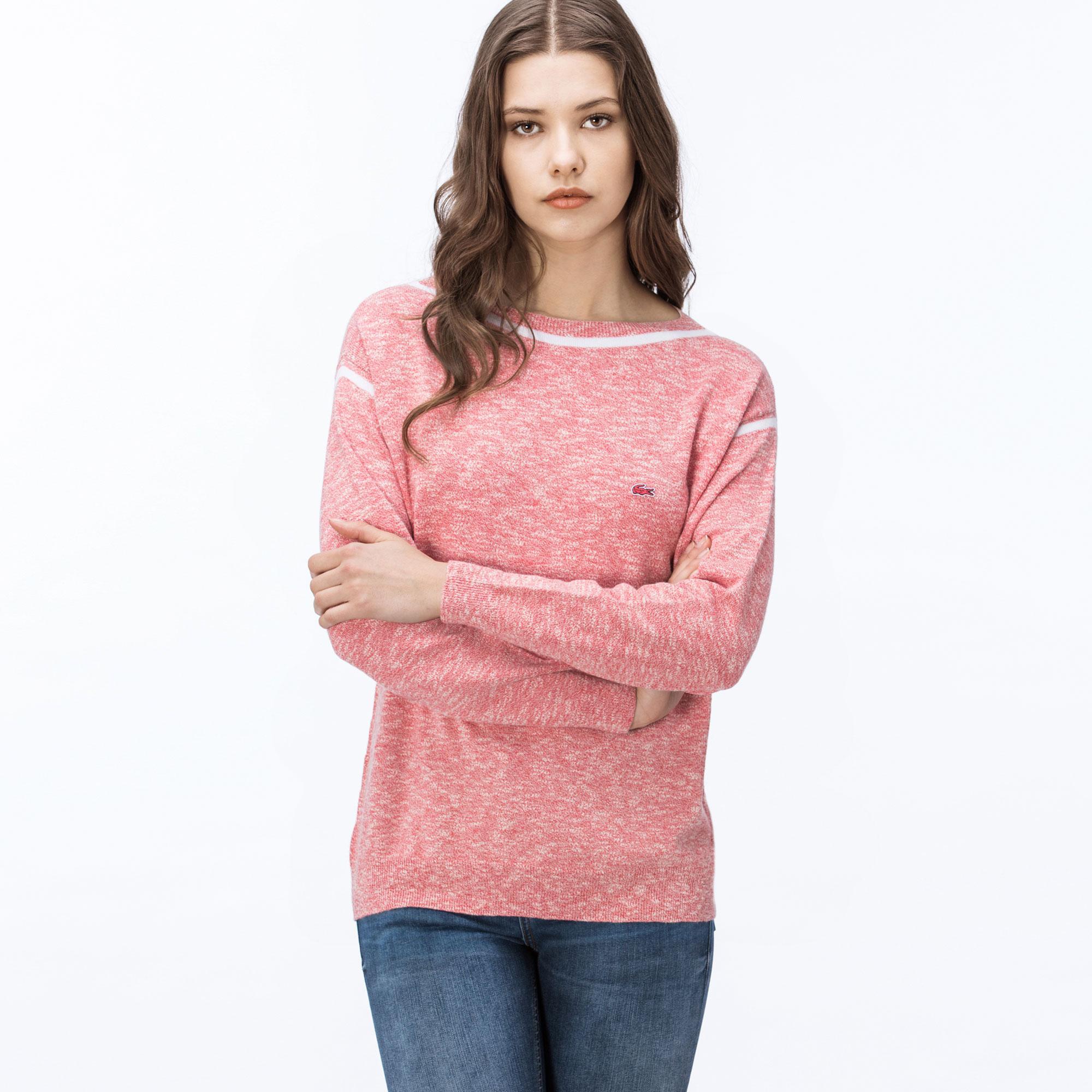 женский свитер lacoste, розовый