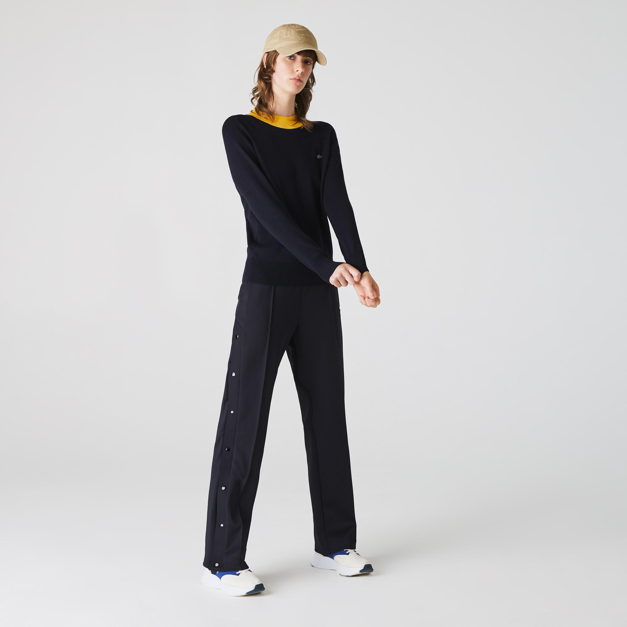 женский свитер lacoste, бирюзовый