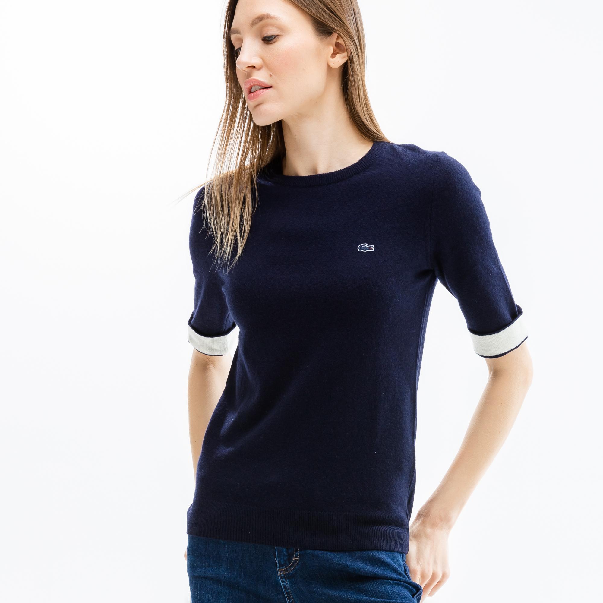 женский свитер lacoste, голубой