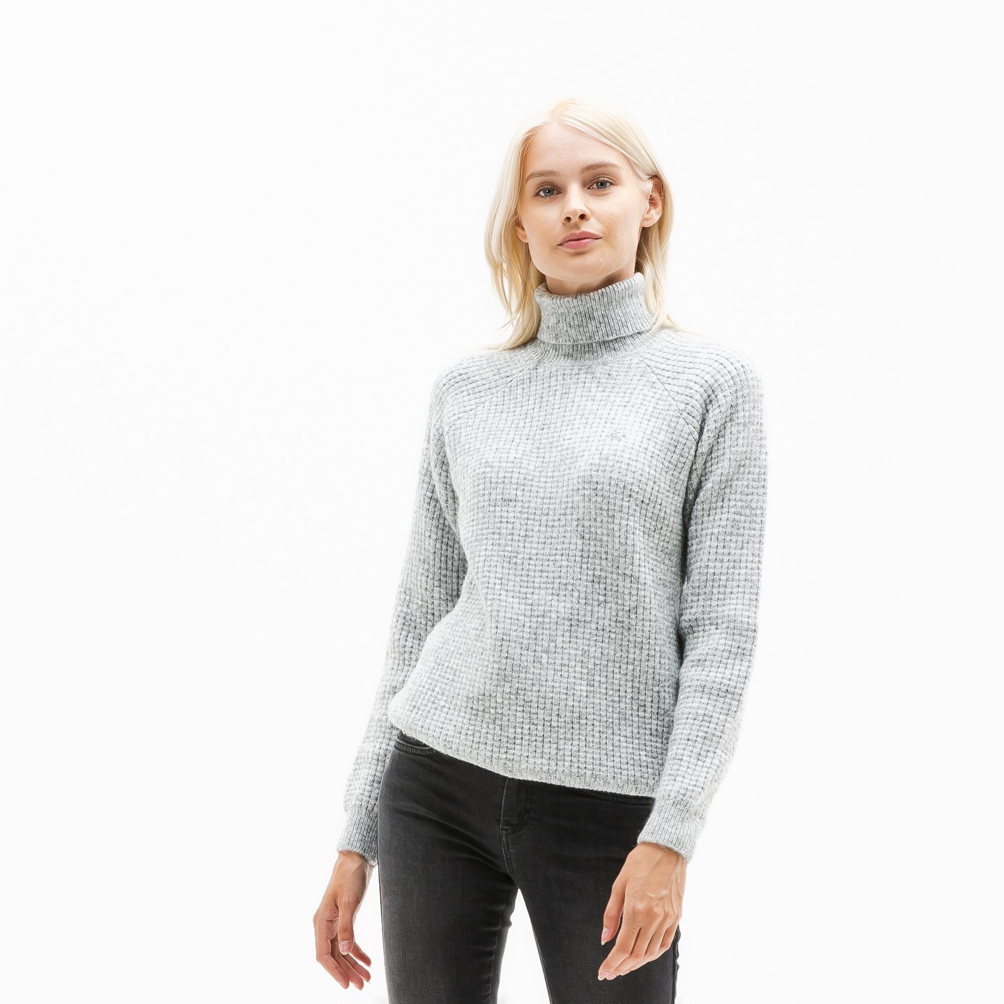 женский свитер lacoste, серый
