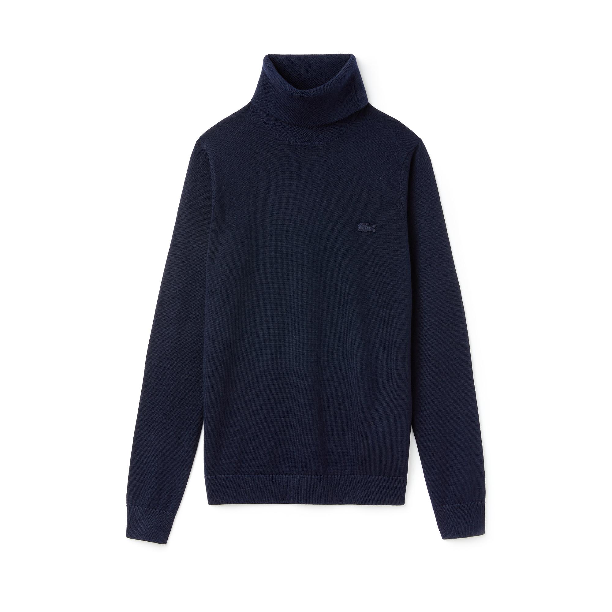 Фото 5 - Женский свитер Lacoste темно-синего цвета
