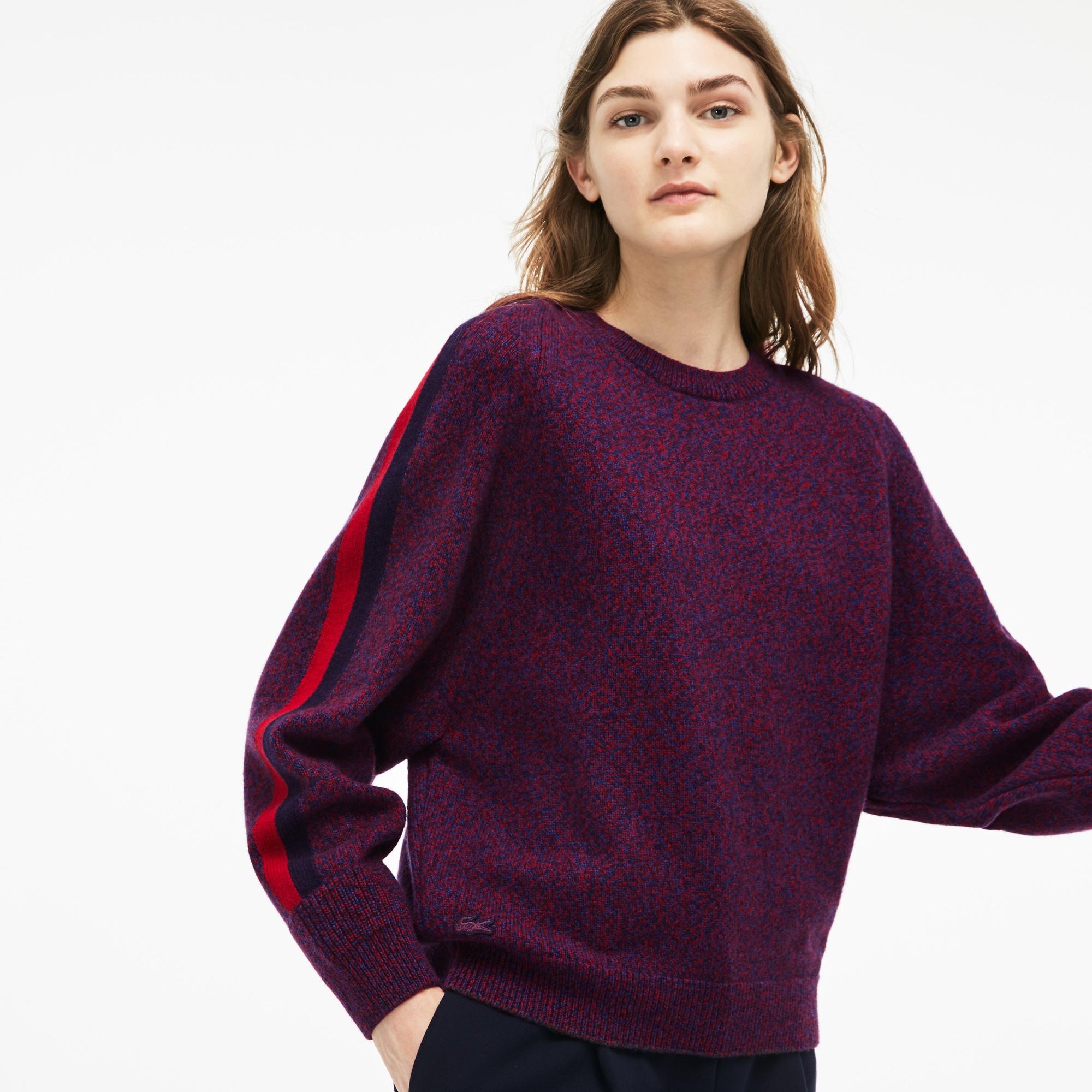 женский свитер lacoste, фиолетовый