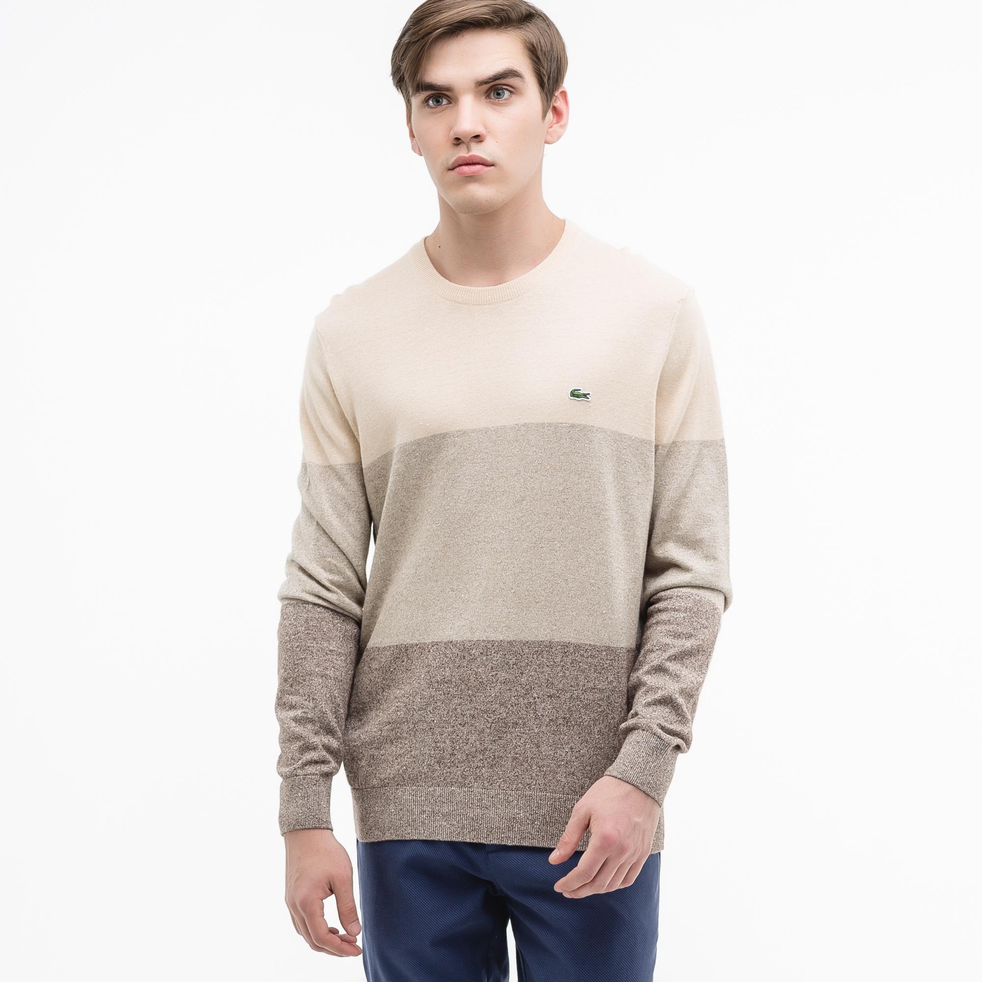 Свитер LacosteСвитеры<br>Детали: стильный мужской свитер с принтом  \ Материал: 55% хлопок 45% лен \ Страна производства: Турция