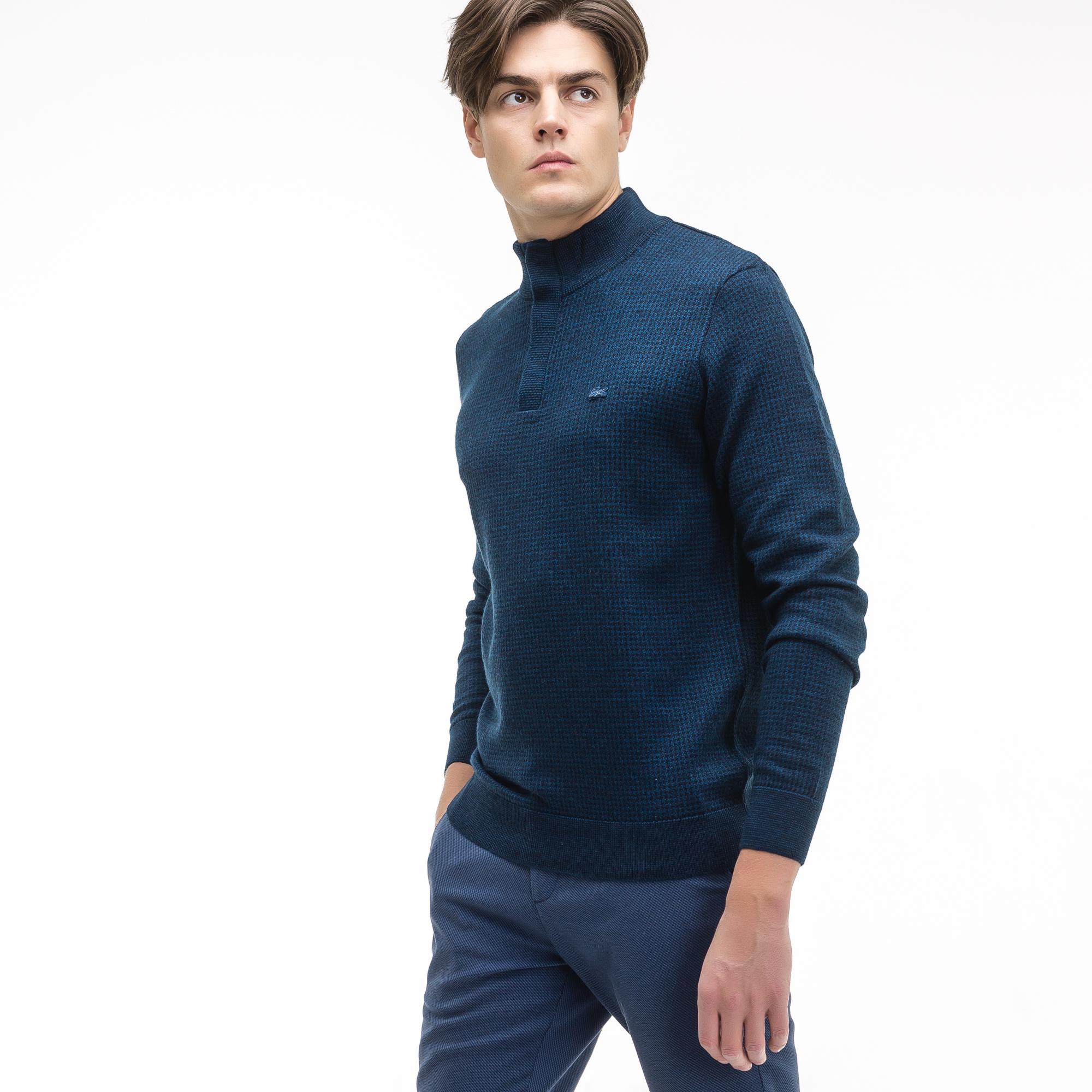 Фото 3 - Мужской свитер Lacoste темно-синего цвета