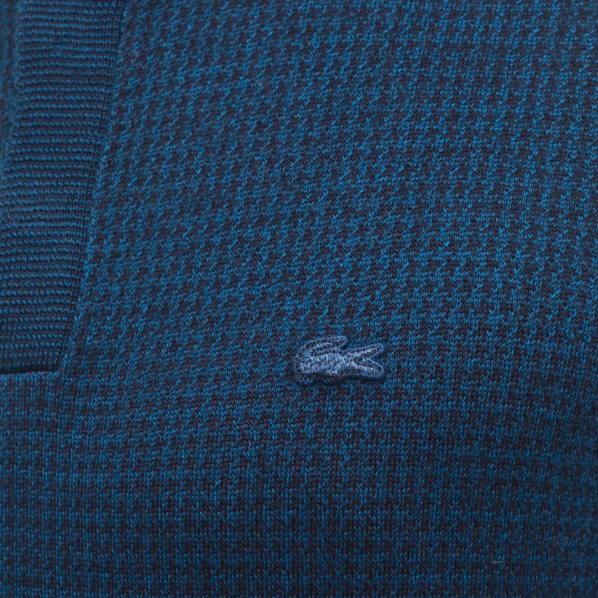 Фото 5 - Мужской свитер Lacoste темно-синего цвета