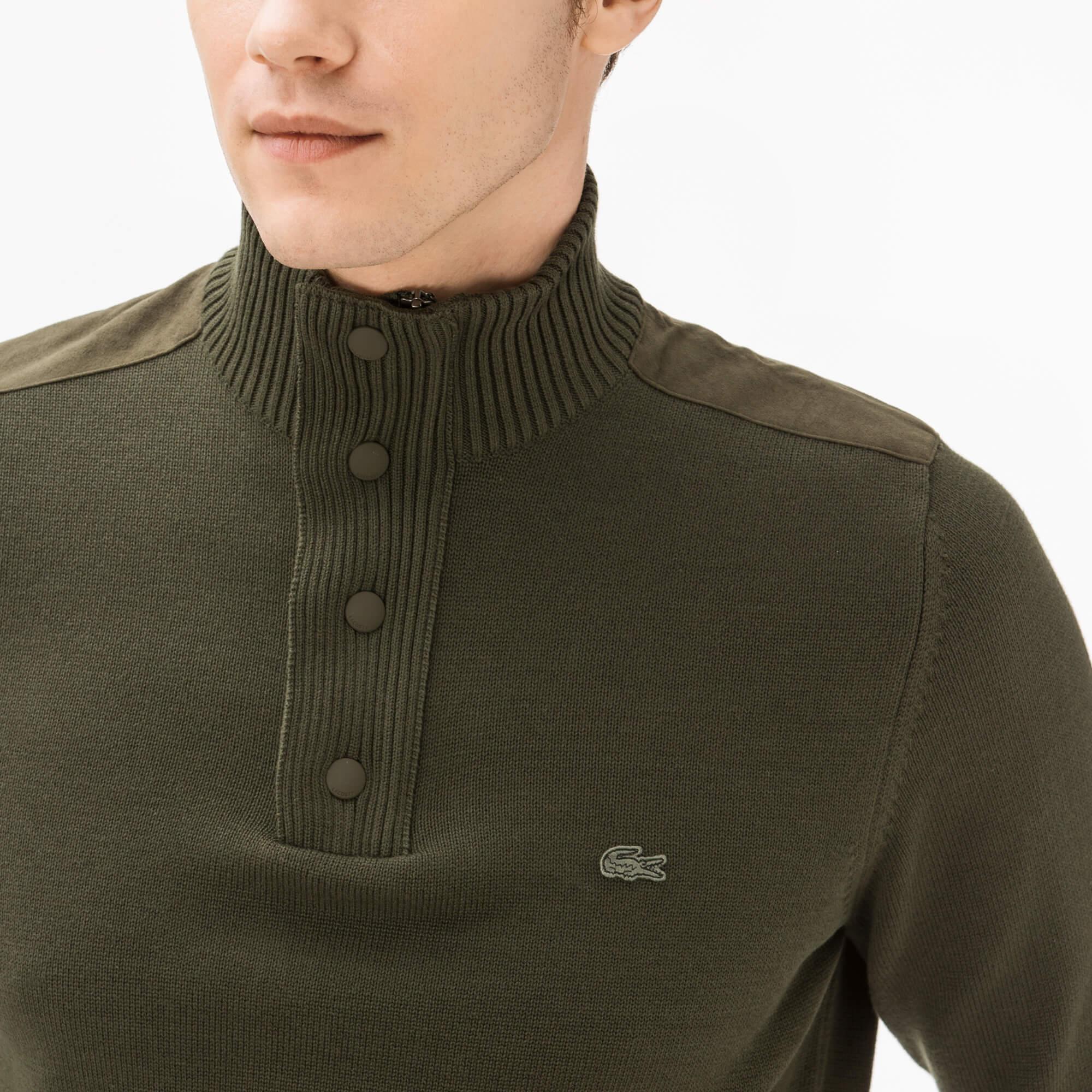 Фото 3 - Мужской свитер Lacoste зеленого цвета