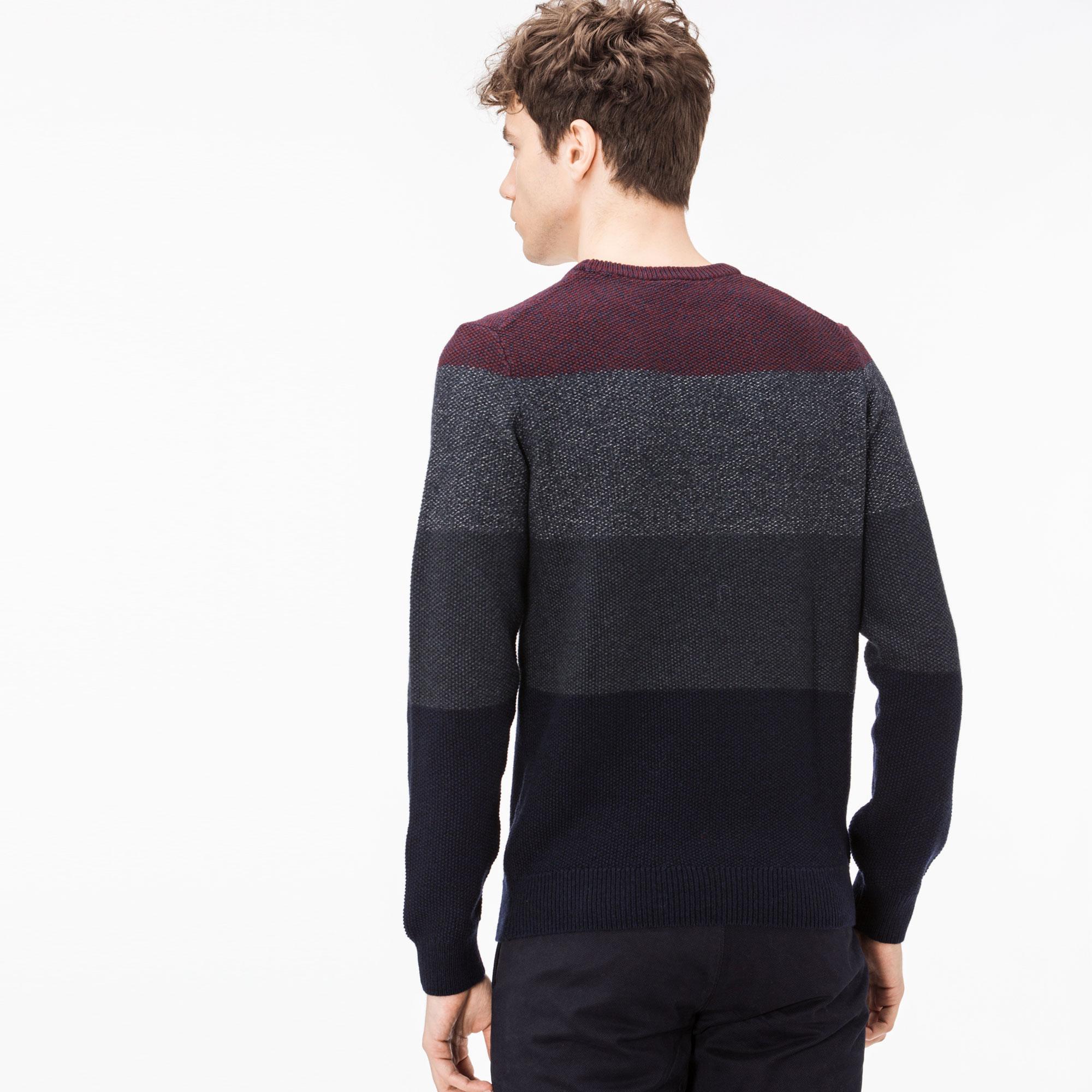 Фото 4 - Мужской свитер Lacoste темно-синего цвета