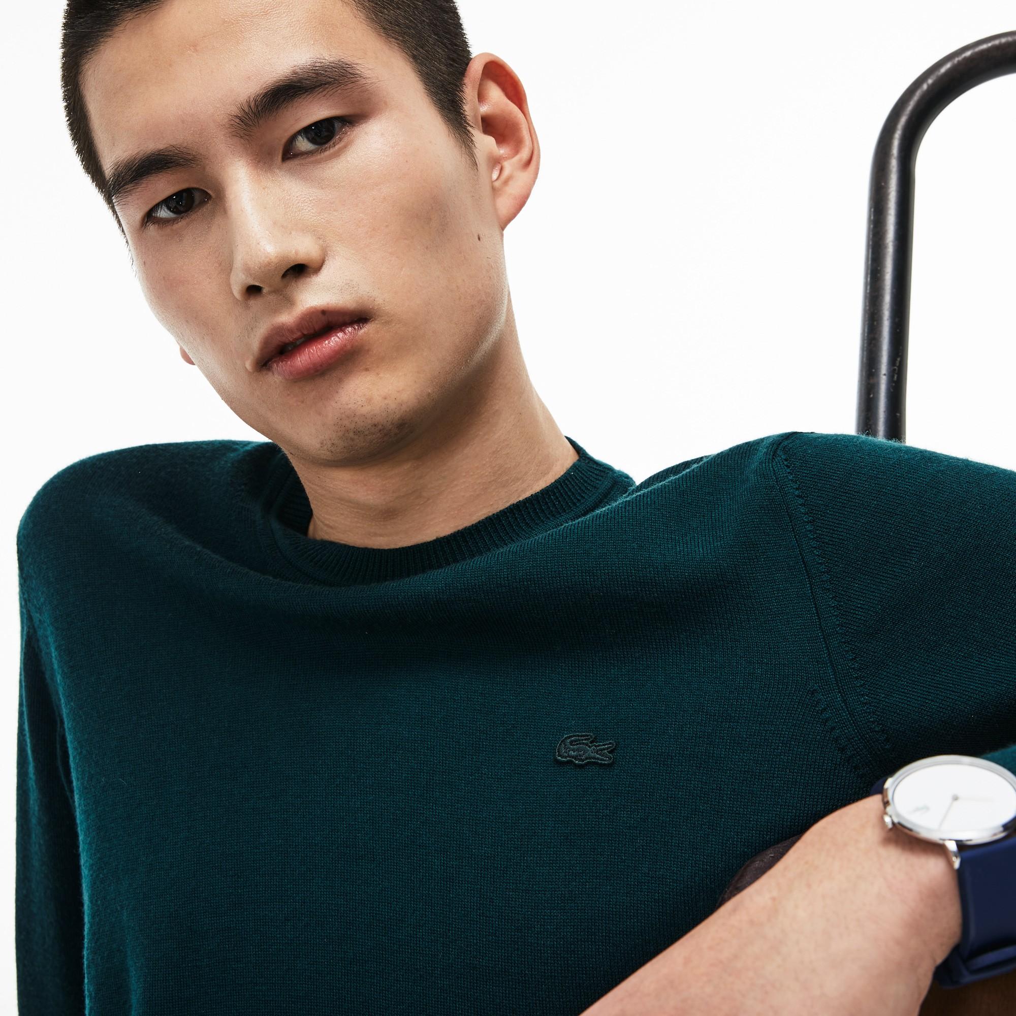 Фото 5 - Мужской свитер Lacoste зеленого цвета