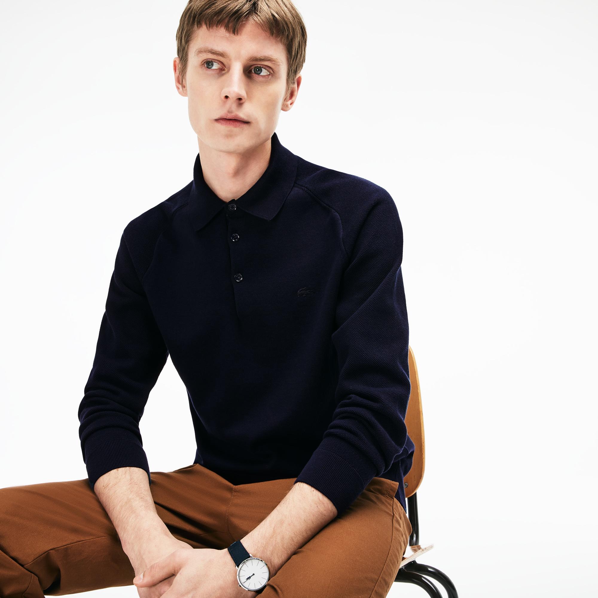 Свитер LacosteСвитеры<br>Детали: стильный мужской свитер с пуговицами  \ Материал: 75% хлопок 25% полиэстер \ Страна производства: Португалия