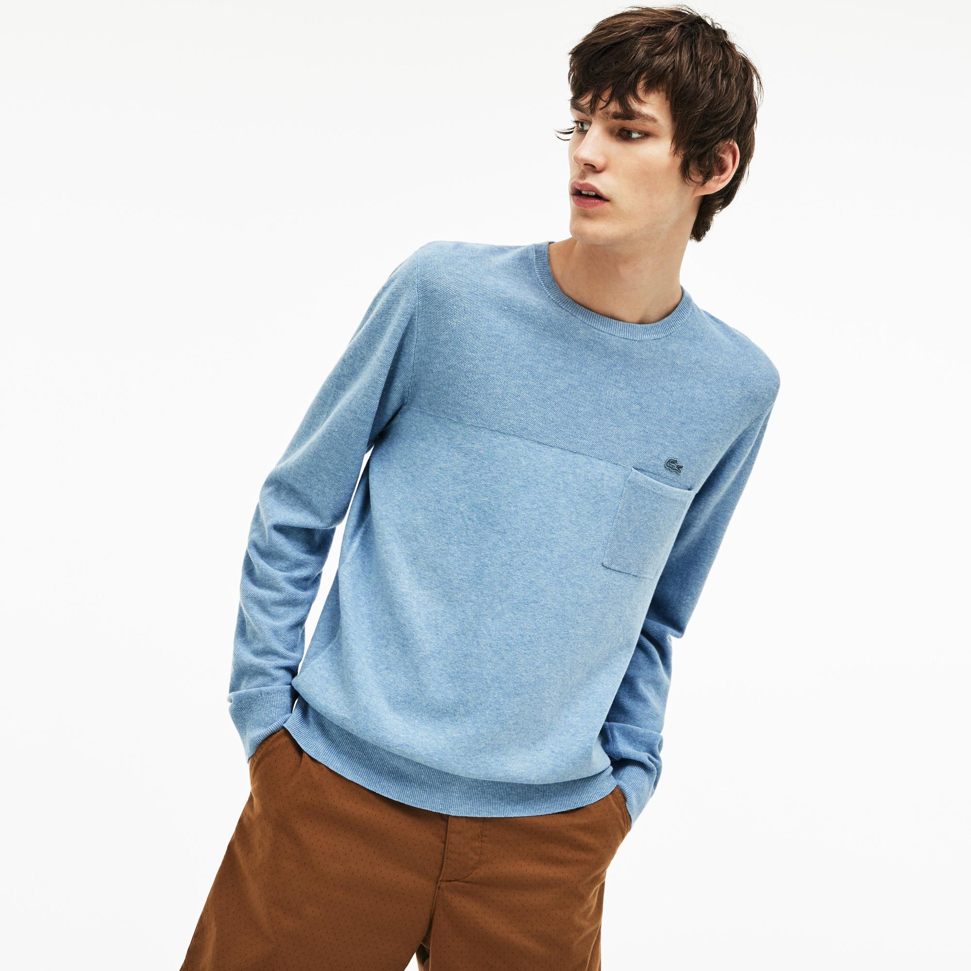 Свитер LacosteСвитеры<br>Детали: стильный мужской свитер карманом  \ Материал: 70% хлопок 30% лен 63% хлопок 25% лен 12% полиамид \ Страна производства: Китай