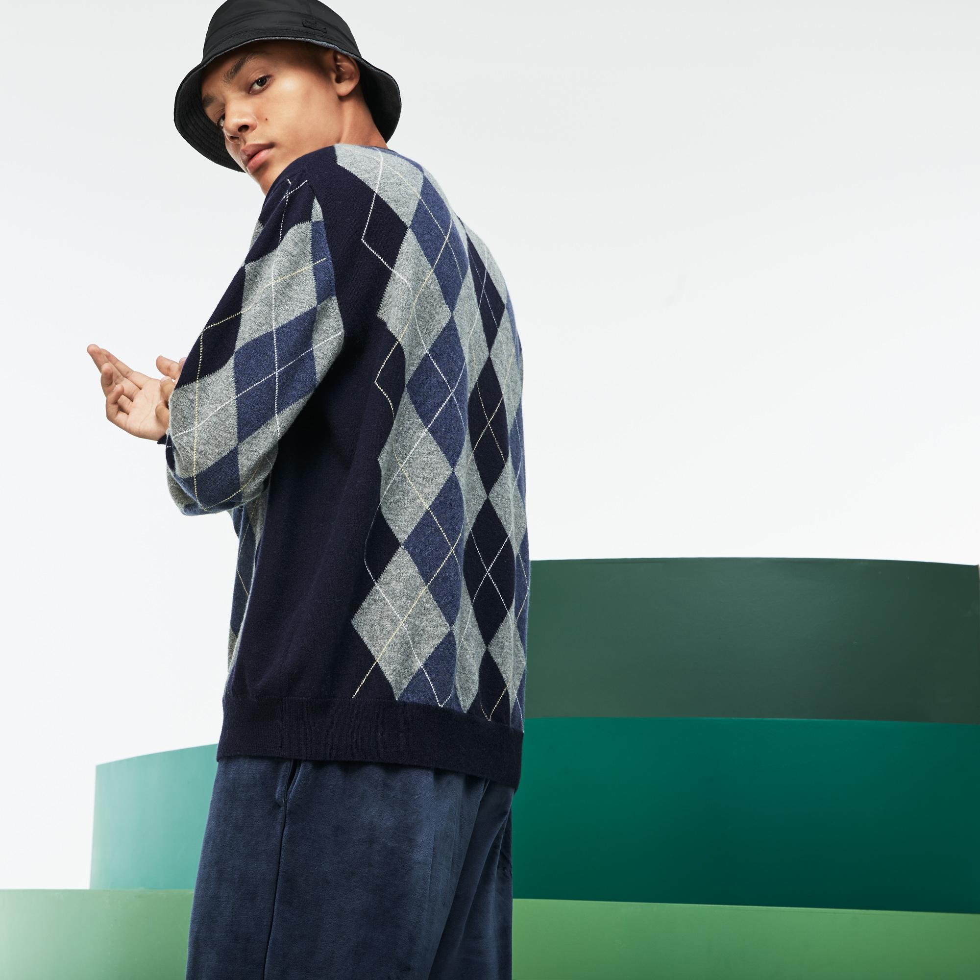 Фото 2 - Мужской свитер Lacoste темно-синего цвета