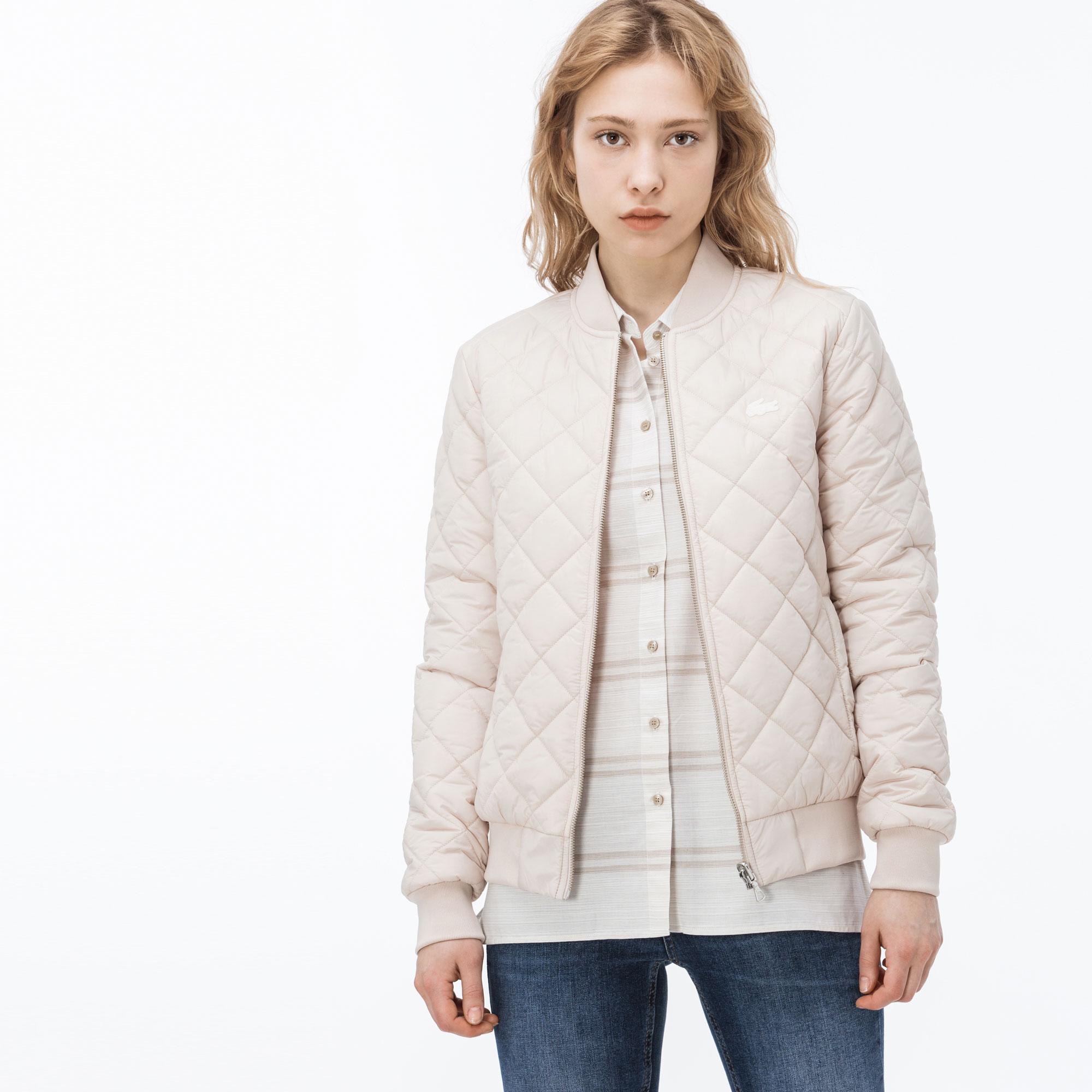 женская куртка lacoste, розовая