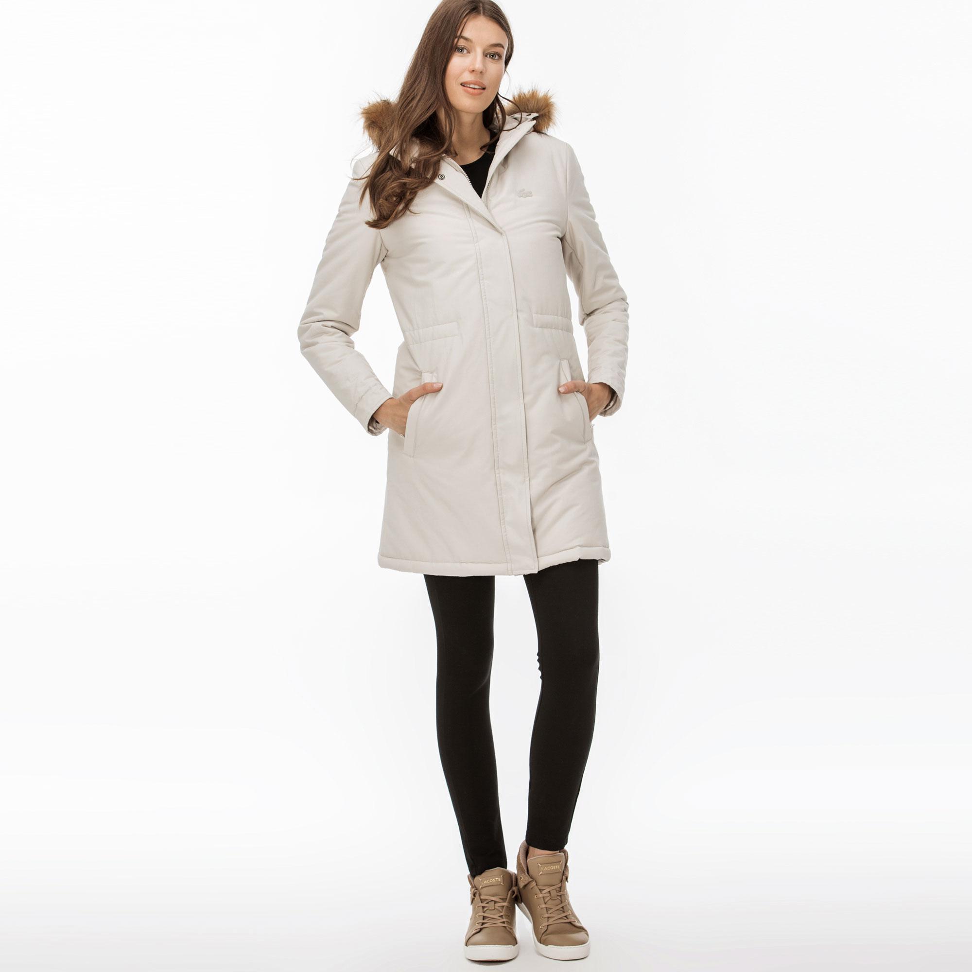 женская куртка lacoste, бежевая