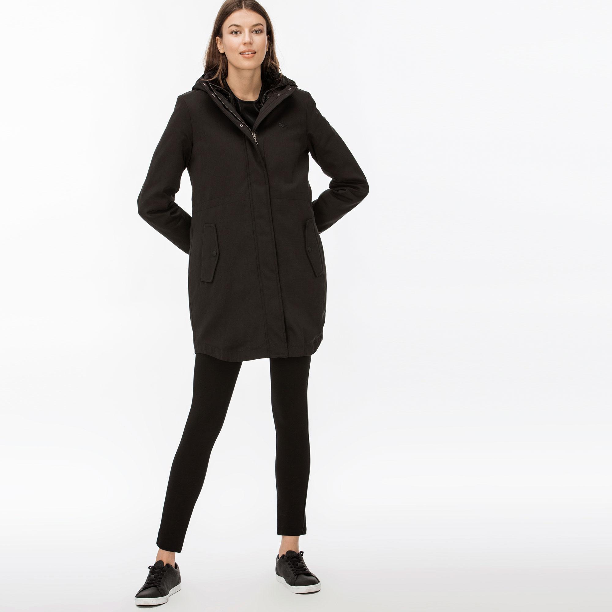 женская куртка lacoste, черная