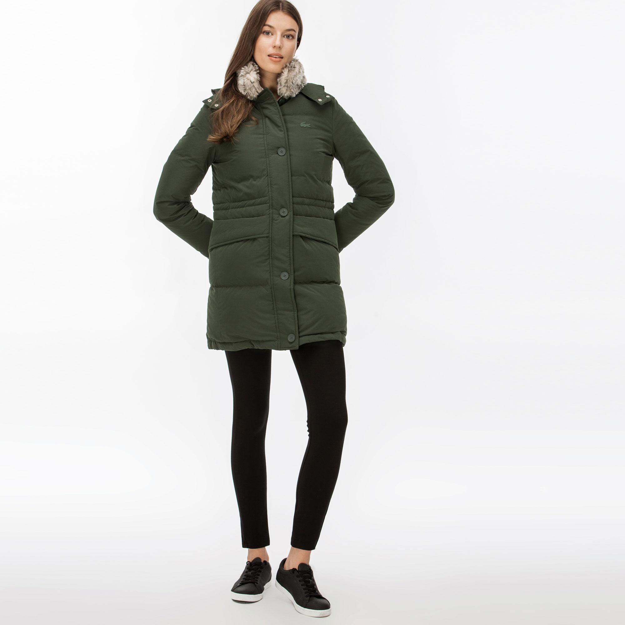 женская куртка lacoste, зеленая