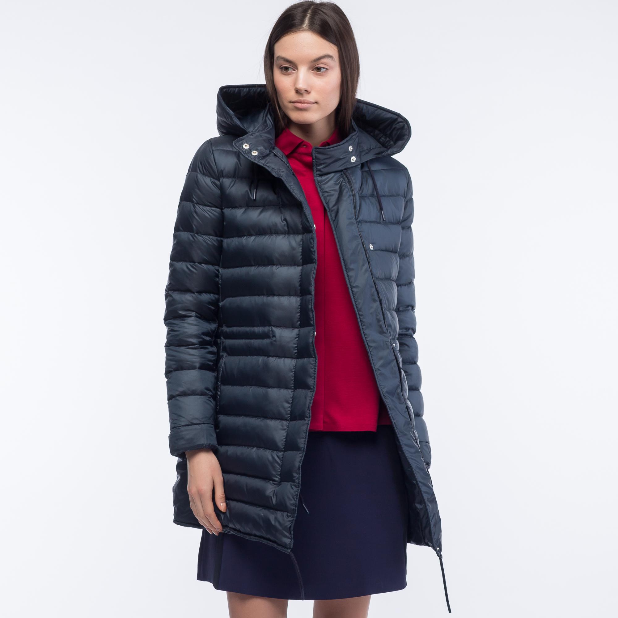 женская куртка lacoste, синяя