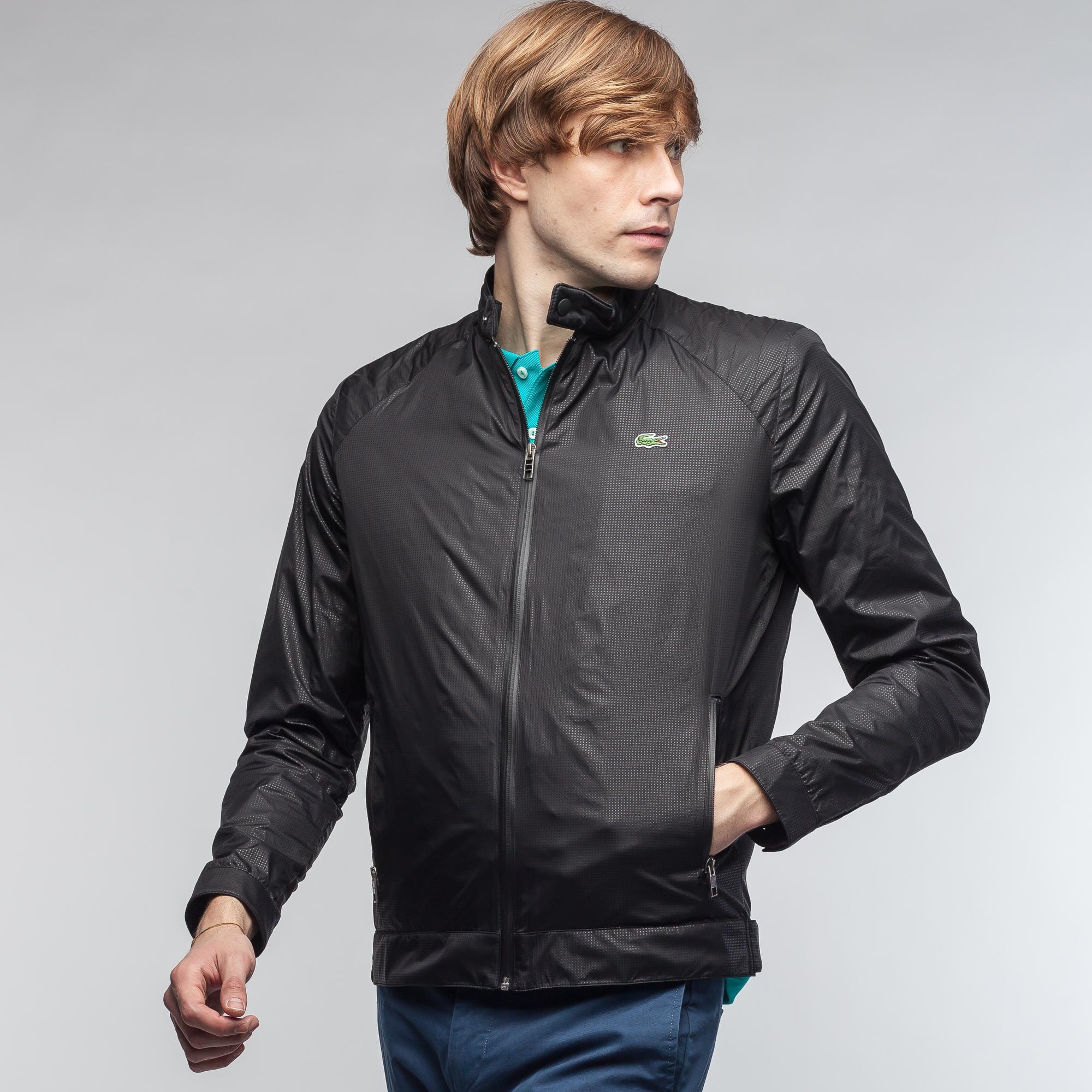 Куртка LacosteВерхняя одежда<br>Детали: стильная мужская куртка с карманами без капюшона  \ Материал: 100% полиамид \ Страна производства: Польша