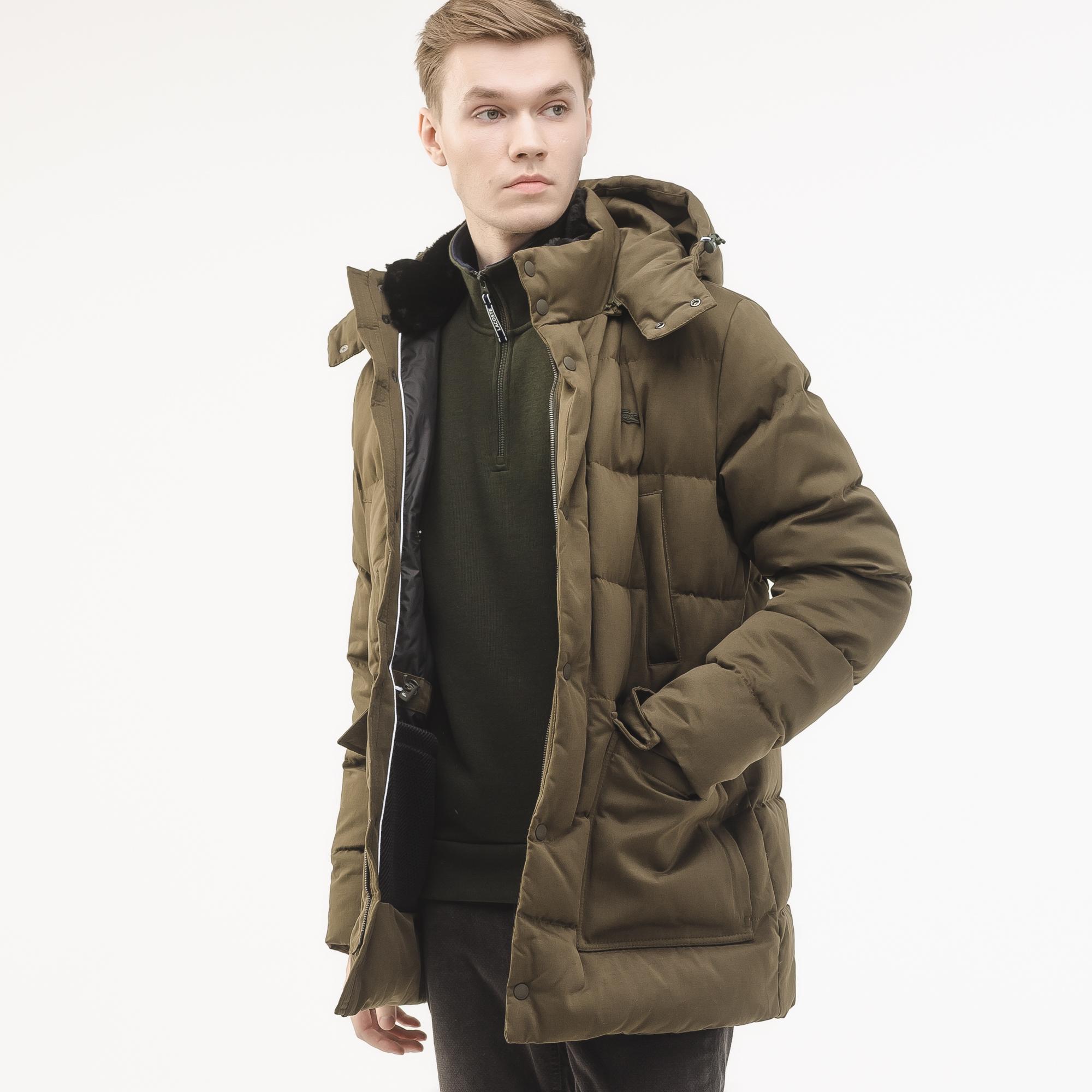 мужская куртка lacoste, коричневая