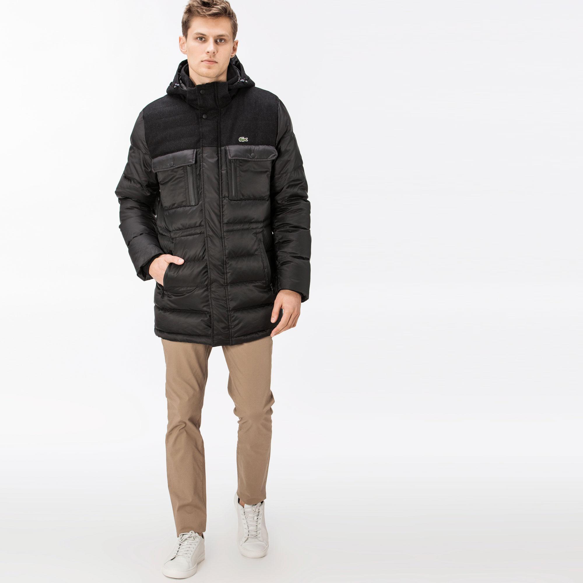 мужская куртка lacoste, черная