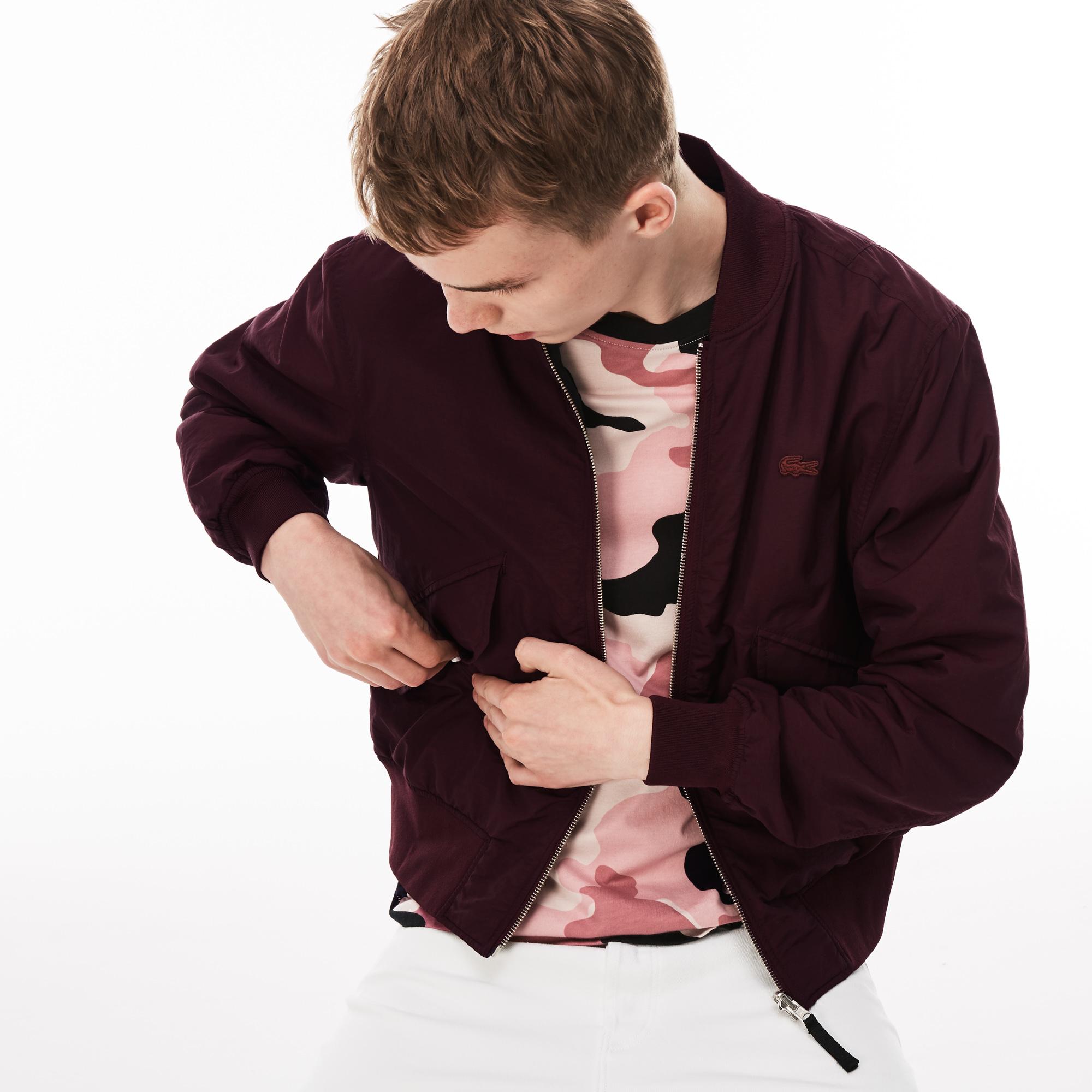 Куртка бордового цвета Lacoste за 11 886 руб. купить в интернет-магазине f3e2ff06bd0