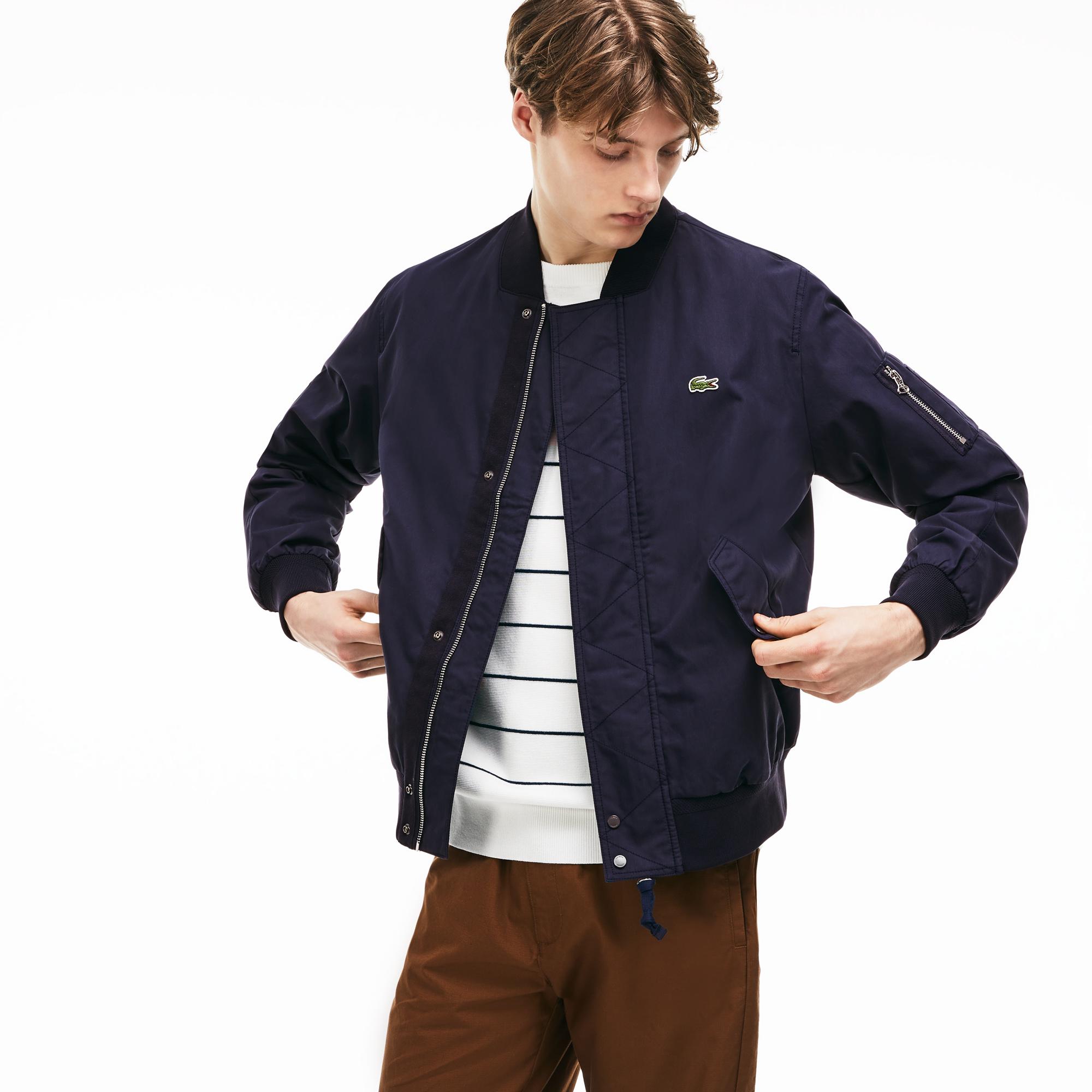 Куртка LacosteВерхняя одежда<br>Детали: стильная мужская куртка без капюшона  \ Материал: 59% хлопок 41% полиамид 100% полиамид 100% полиэстер 99% полиамид 1% эластан \ Страна производства: Индонезия