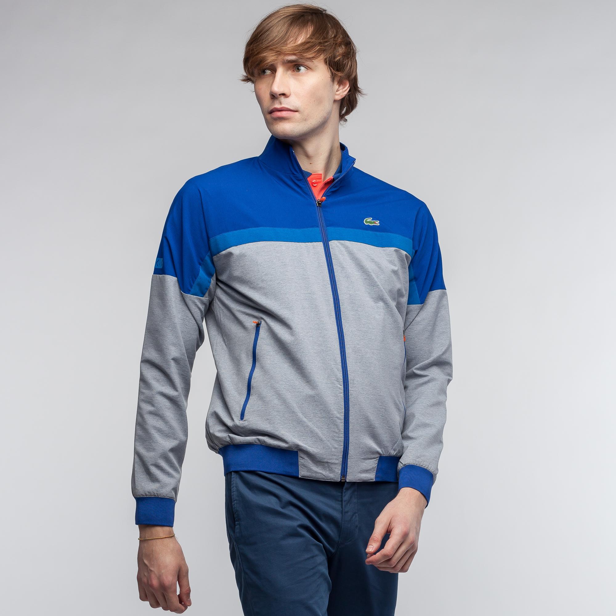 мужская куртка lacoste, синяя