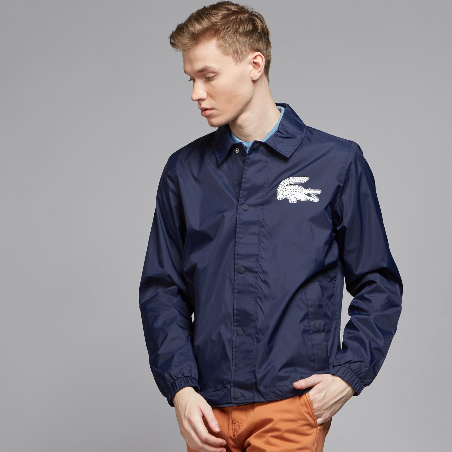 Куртка темно-синего цвета Lacoste за 8 450 руб. купить в интернет ... 2599dbac050