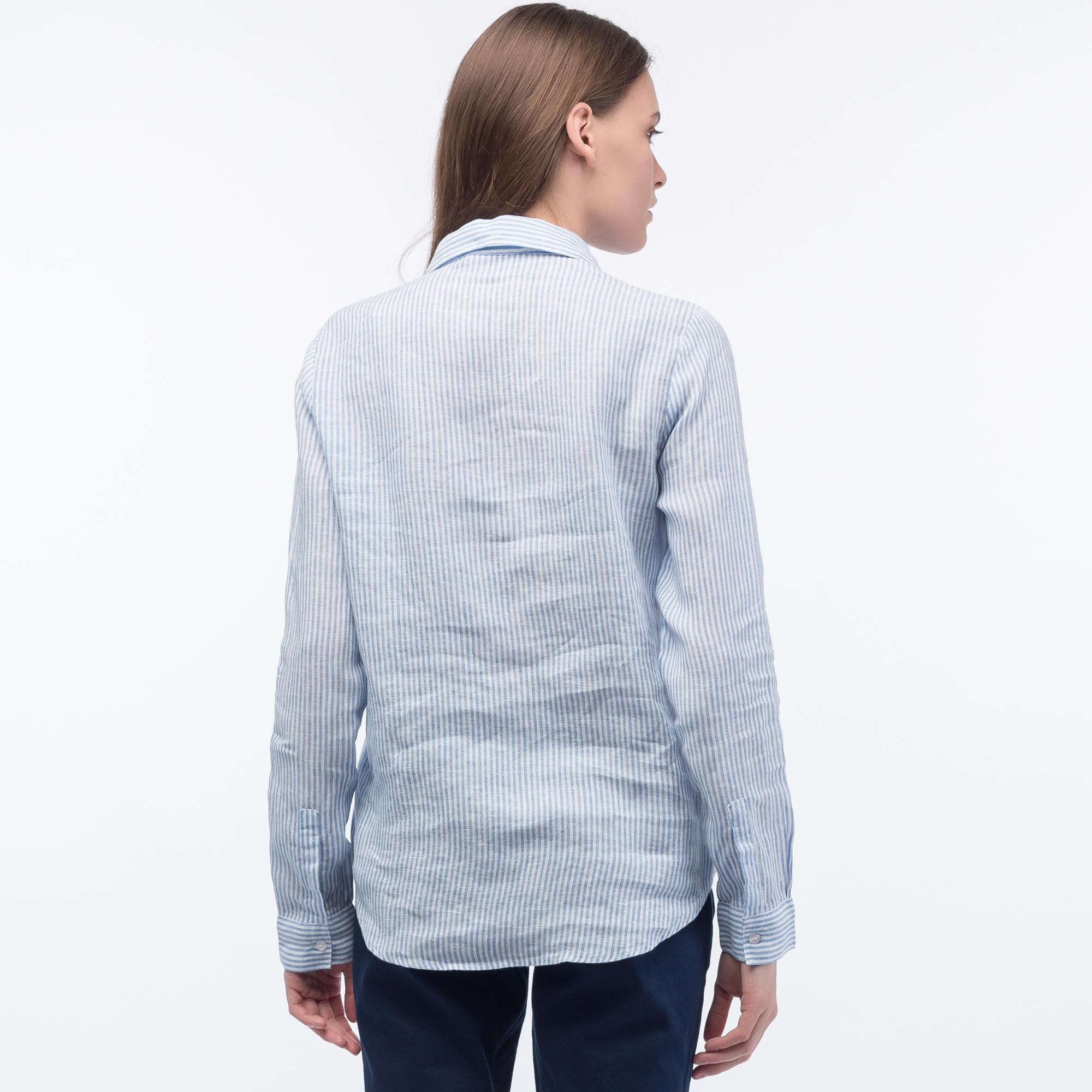 Фото 4 - Рубашку Lacoste Loose fit голубого цвета