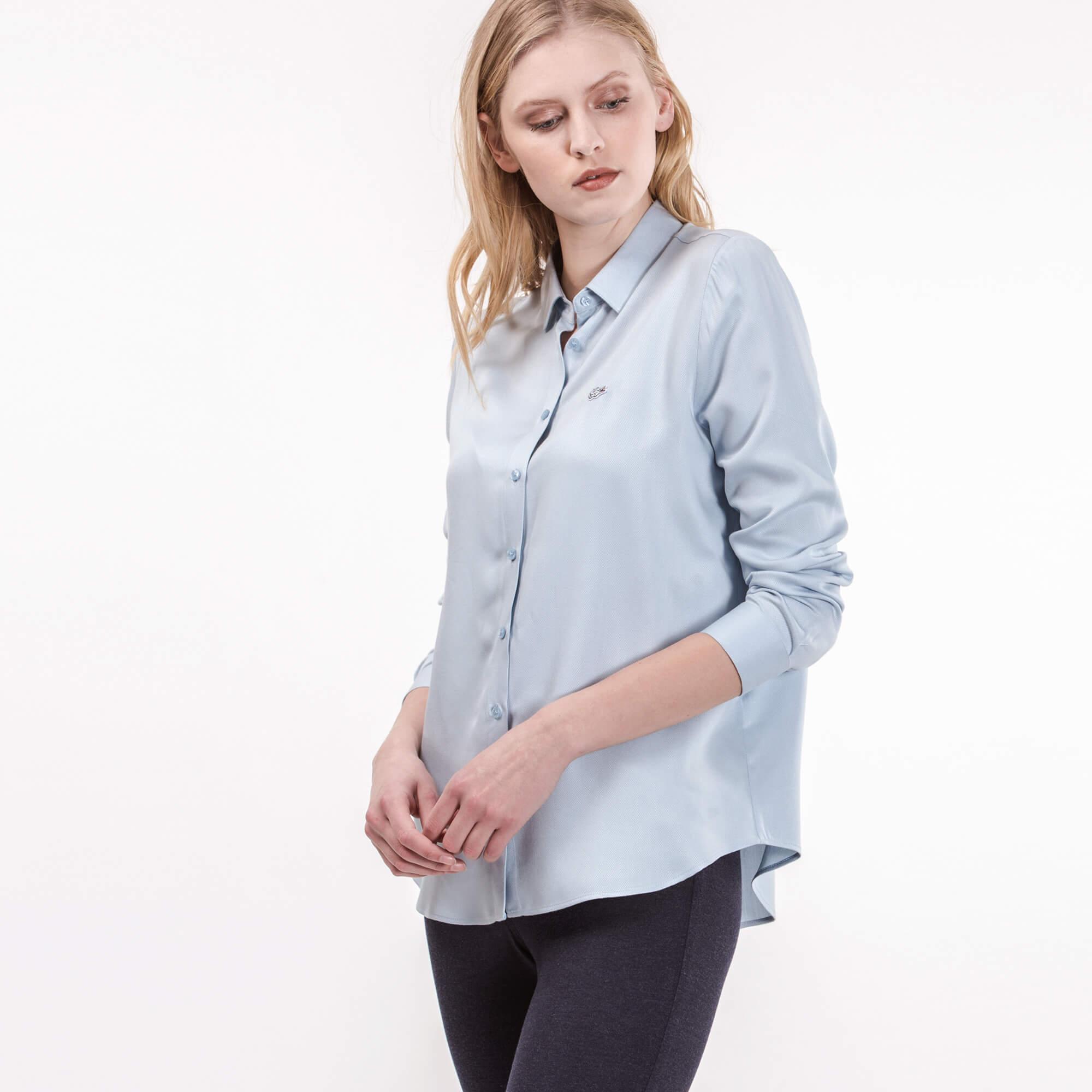Фото - Рубашку Lacoste Regular fit голубого цвета