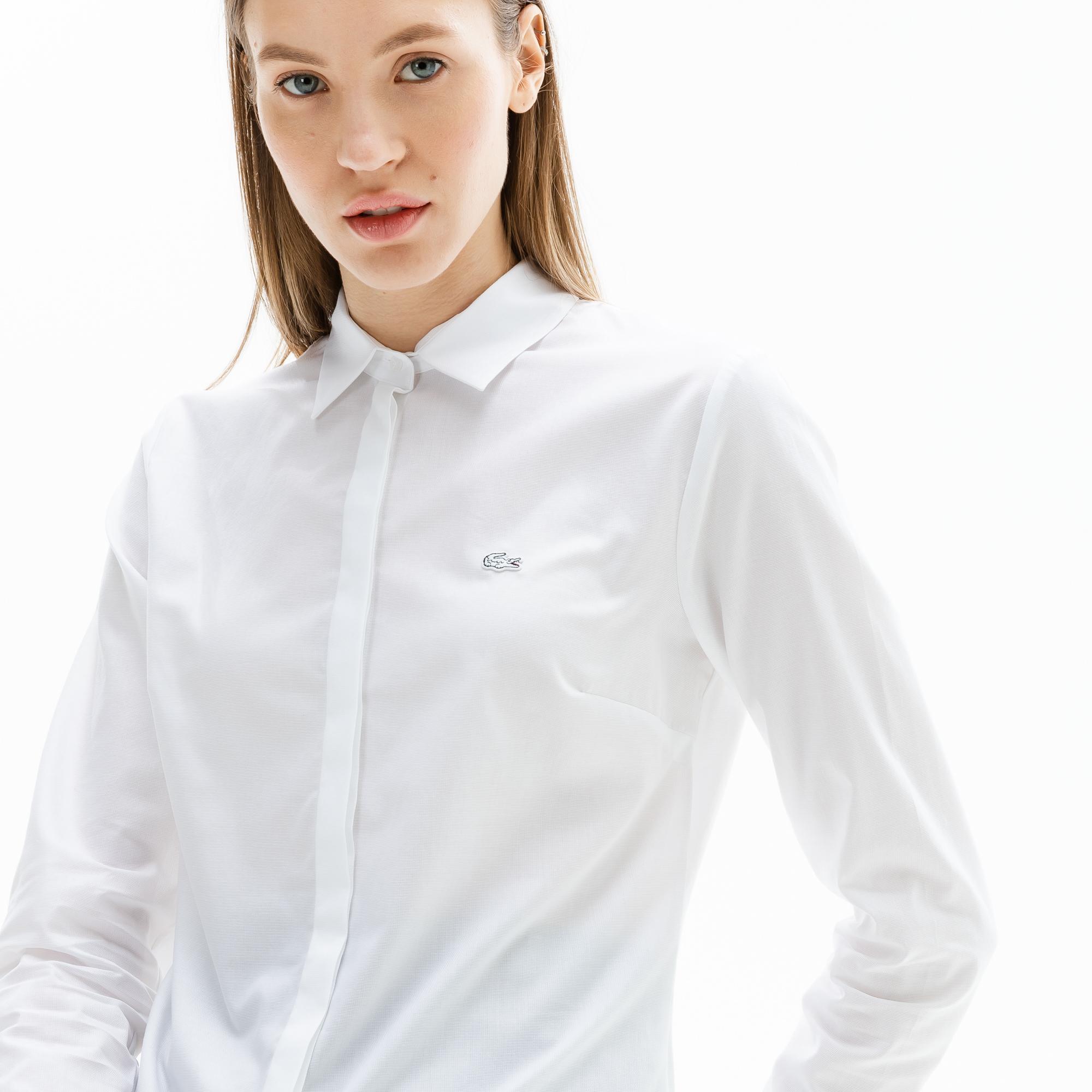 женская рубашка lacoste, белая