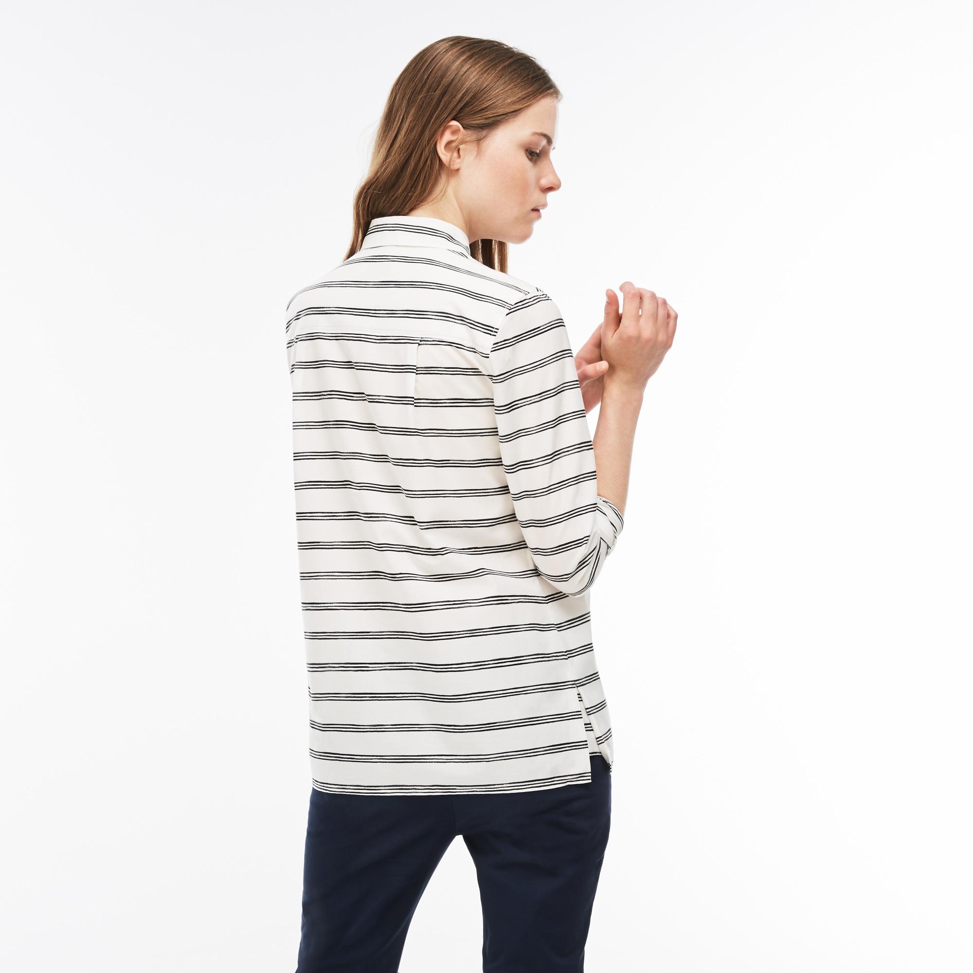 Фото 2 - Рубашку Lacoste Regular fit белого цвета