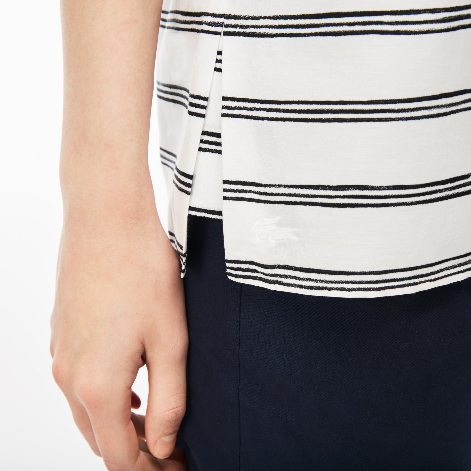 Фото 4 - Рубашку Lacoste Regular fit белого цвета