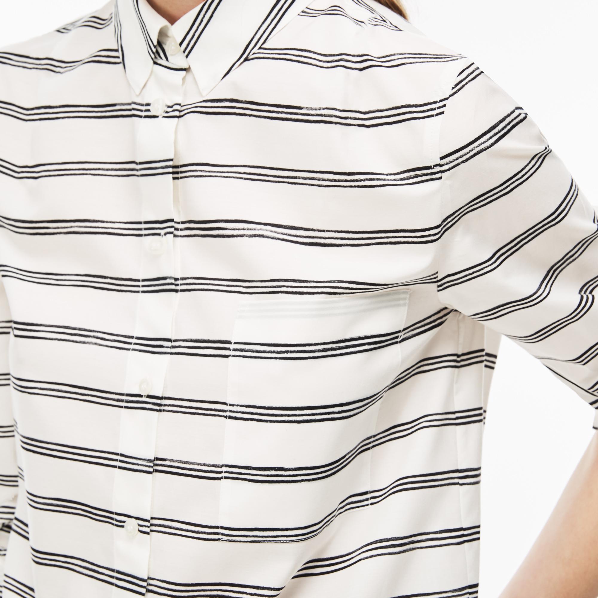 Фото 5 - Рубашку Lacoste Regular fit белого цвета