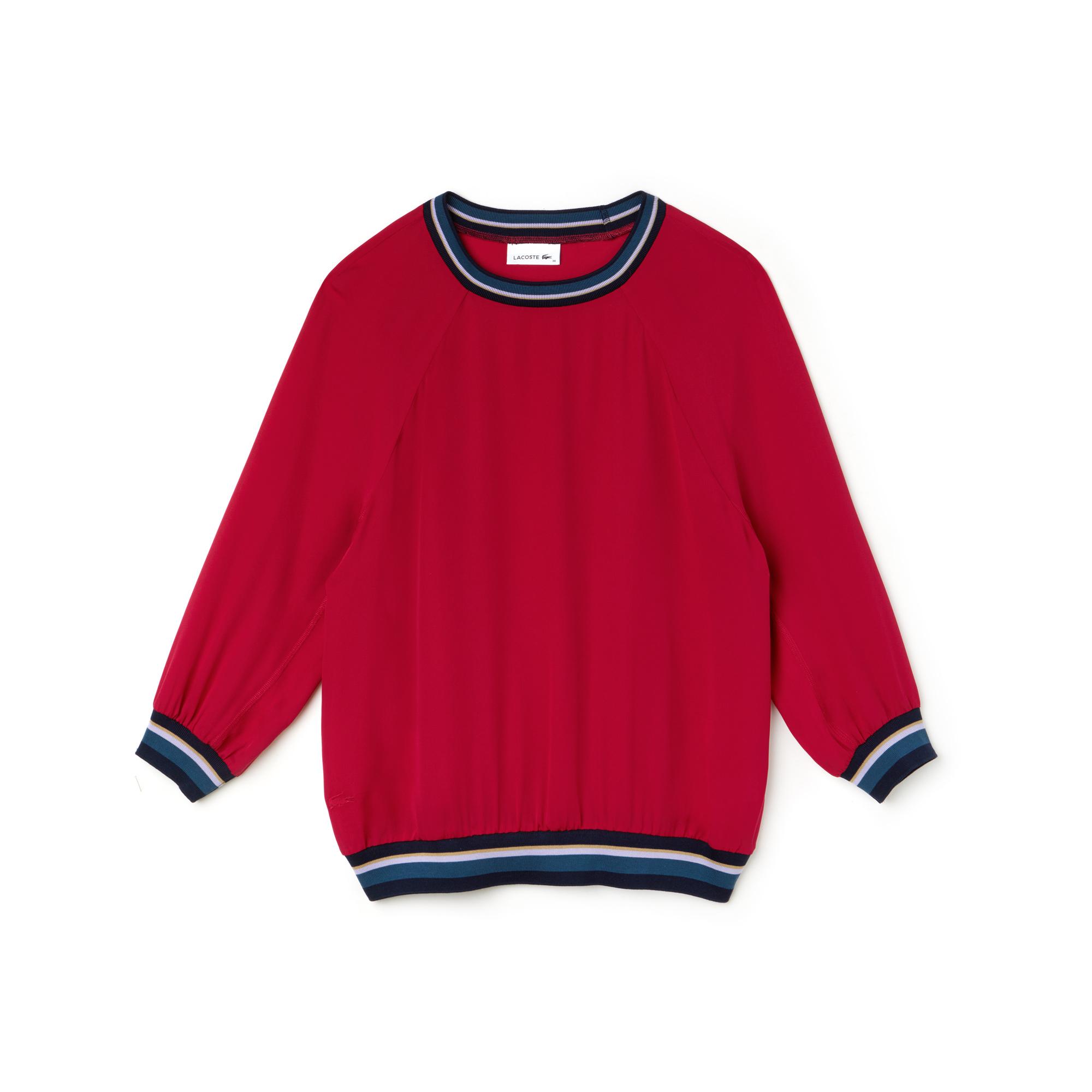 Фото 3 - Женскую рубашку Lacoste красного цвета