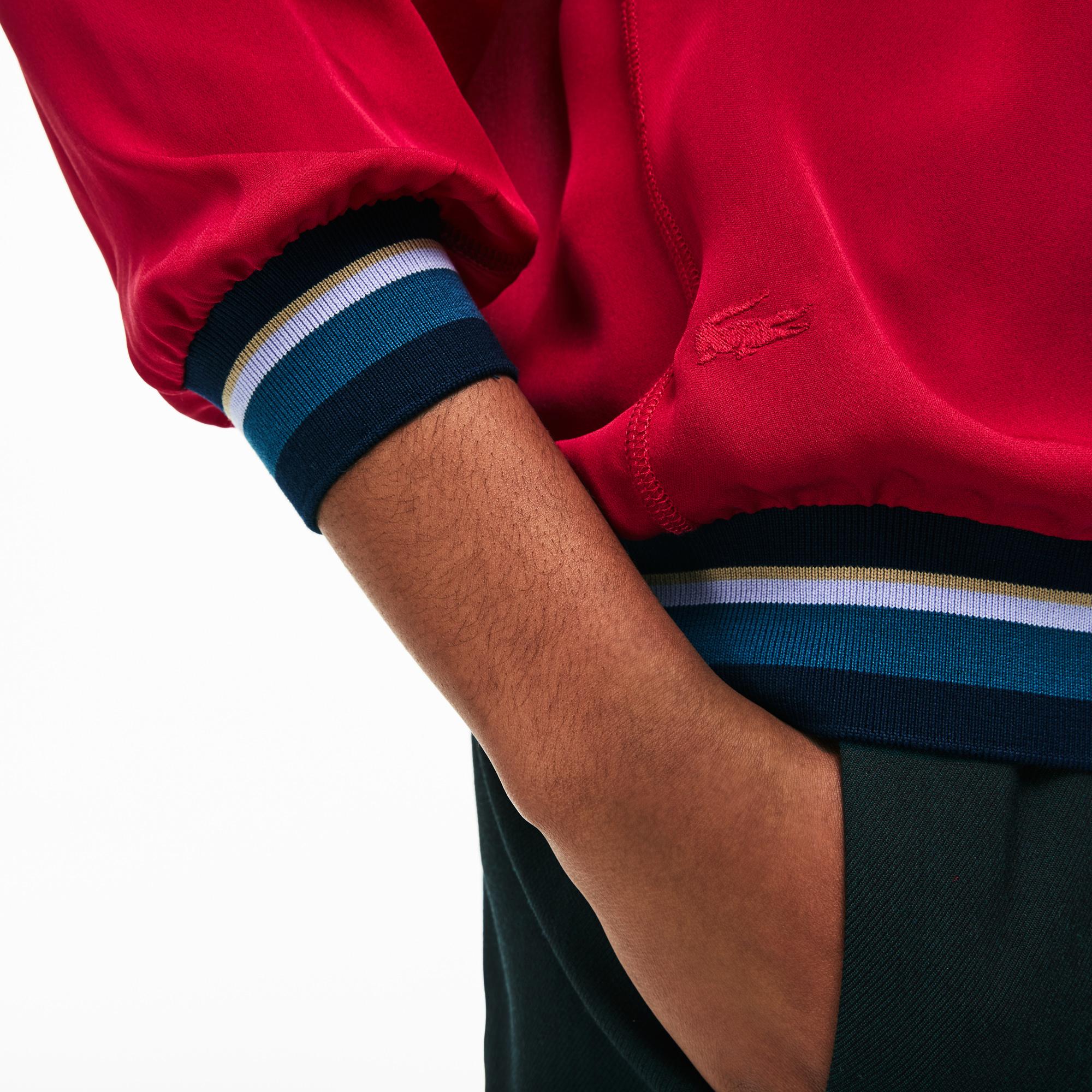 Фото 4 - Женскую рубашку Lacoste красного цвета