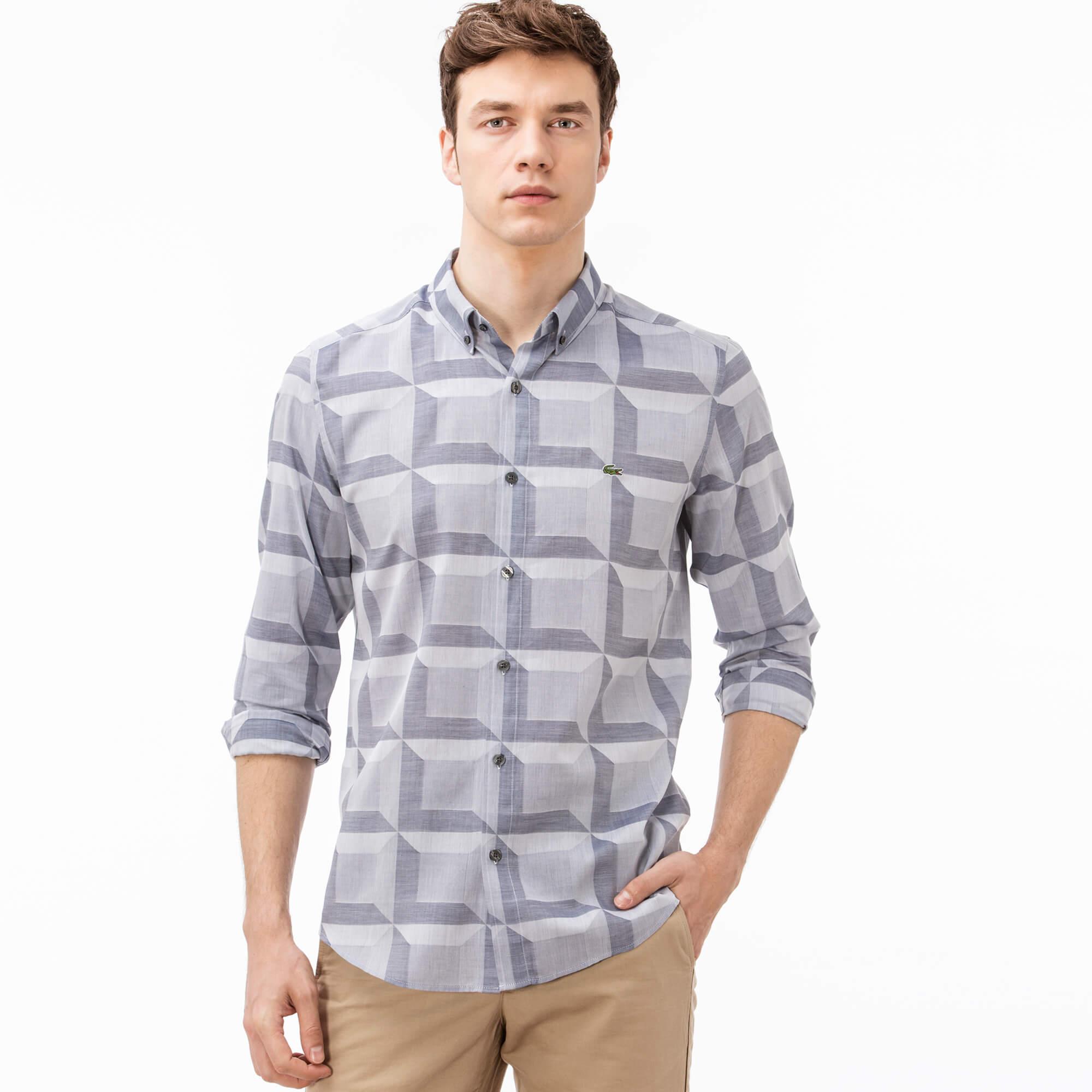 Купить Рубашка Lacoste Regular fit, серый, CH0807
