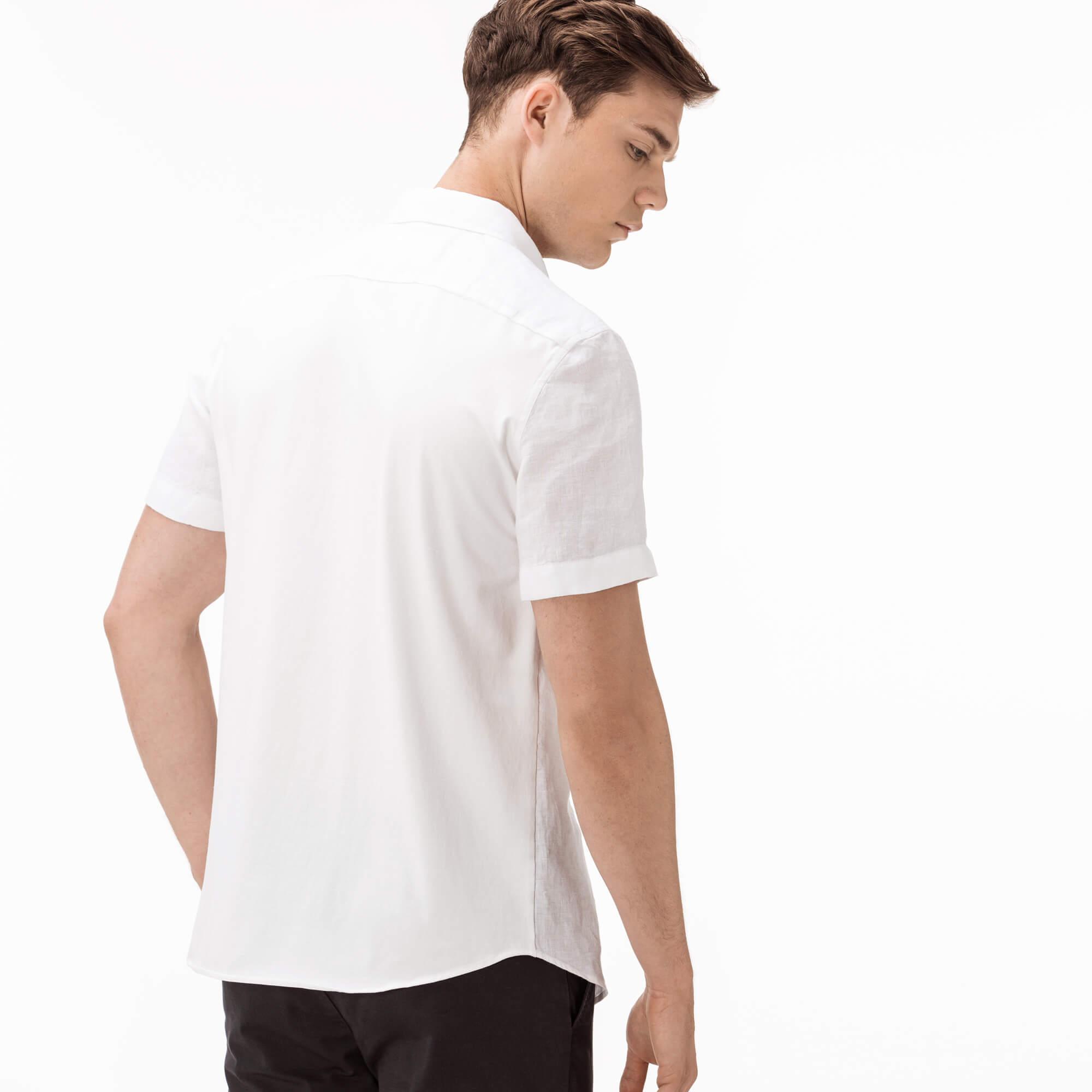 Фото 2 - Мужскую рубашку Lacoste белого цвета