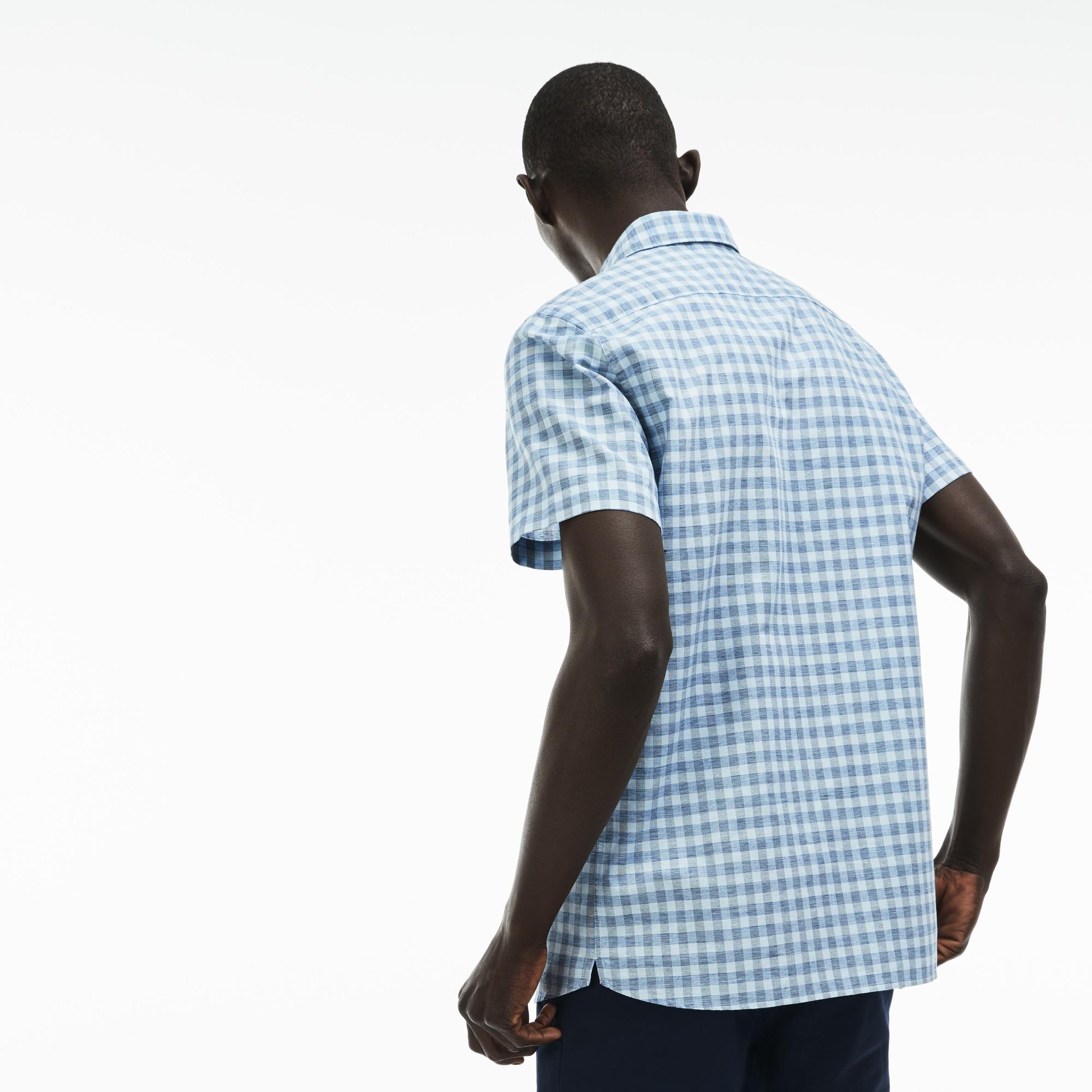 Фото 2 - Рубашку Lacoste Regular fit голубого цвета