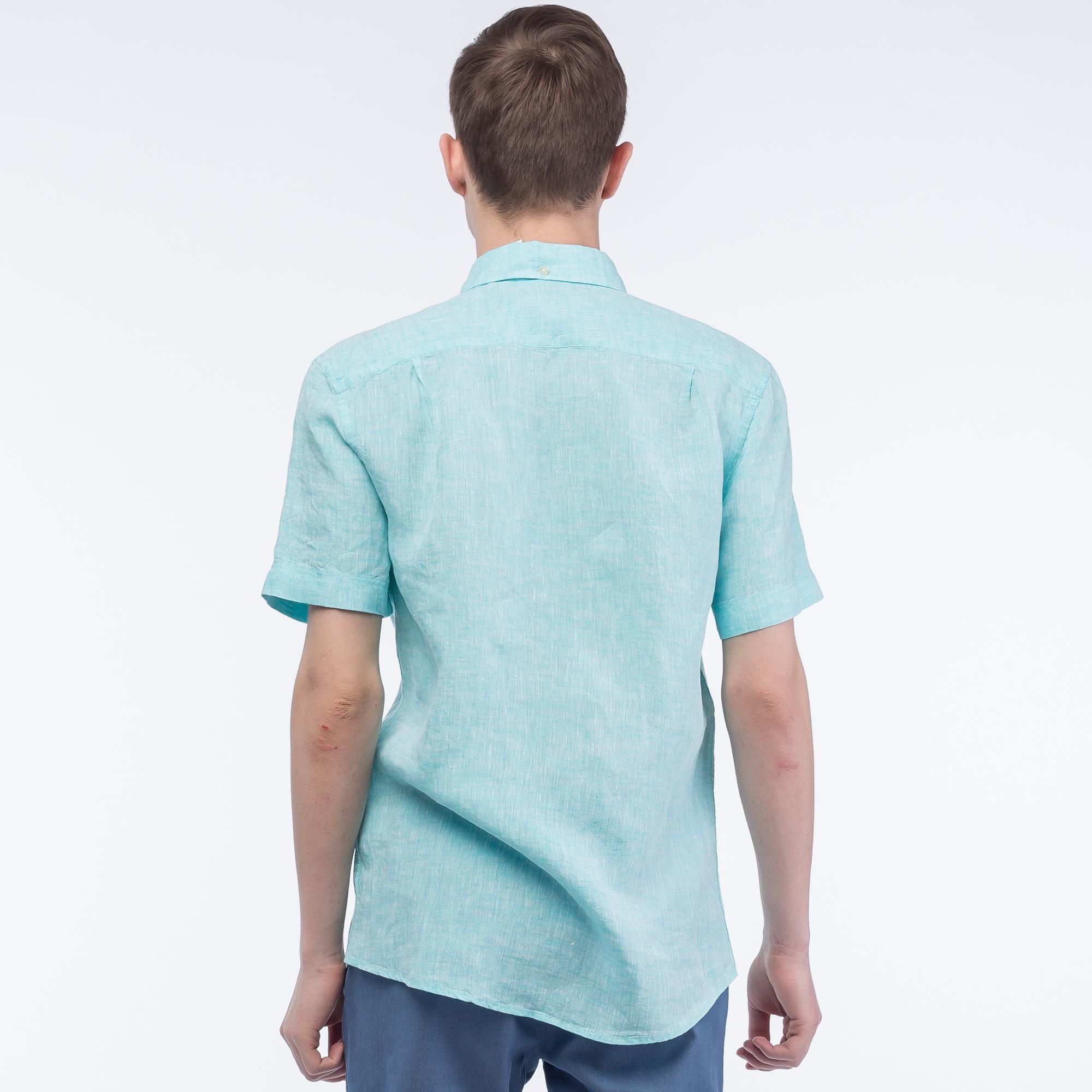 Фото 4 - Рубашку Lacoste Regular fit бирюзового цвета