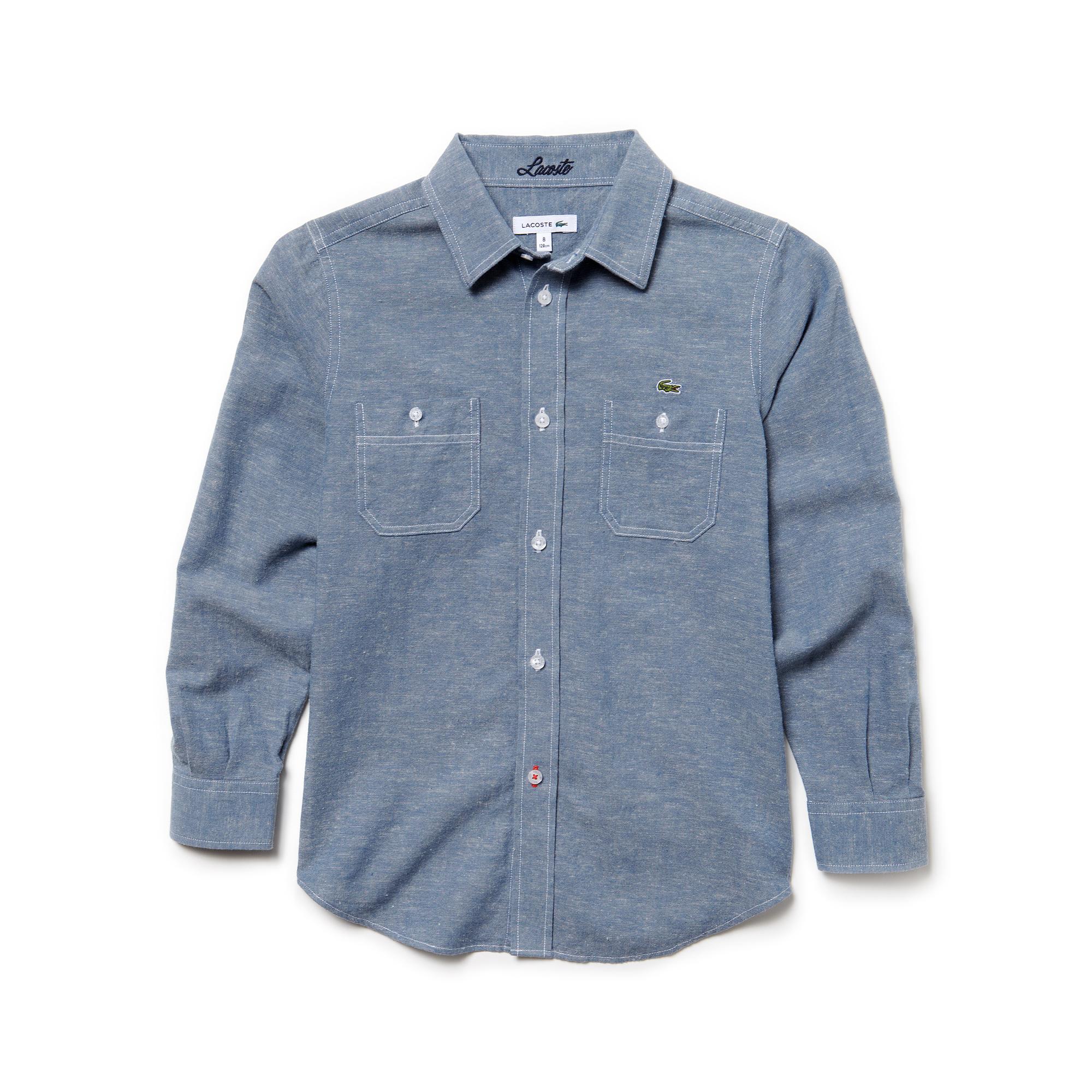 Рубашка LacosteДетское<br>75% хлопок 25% лён