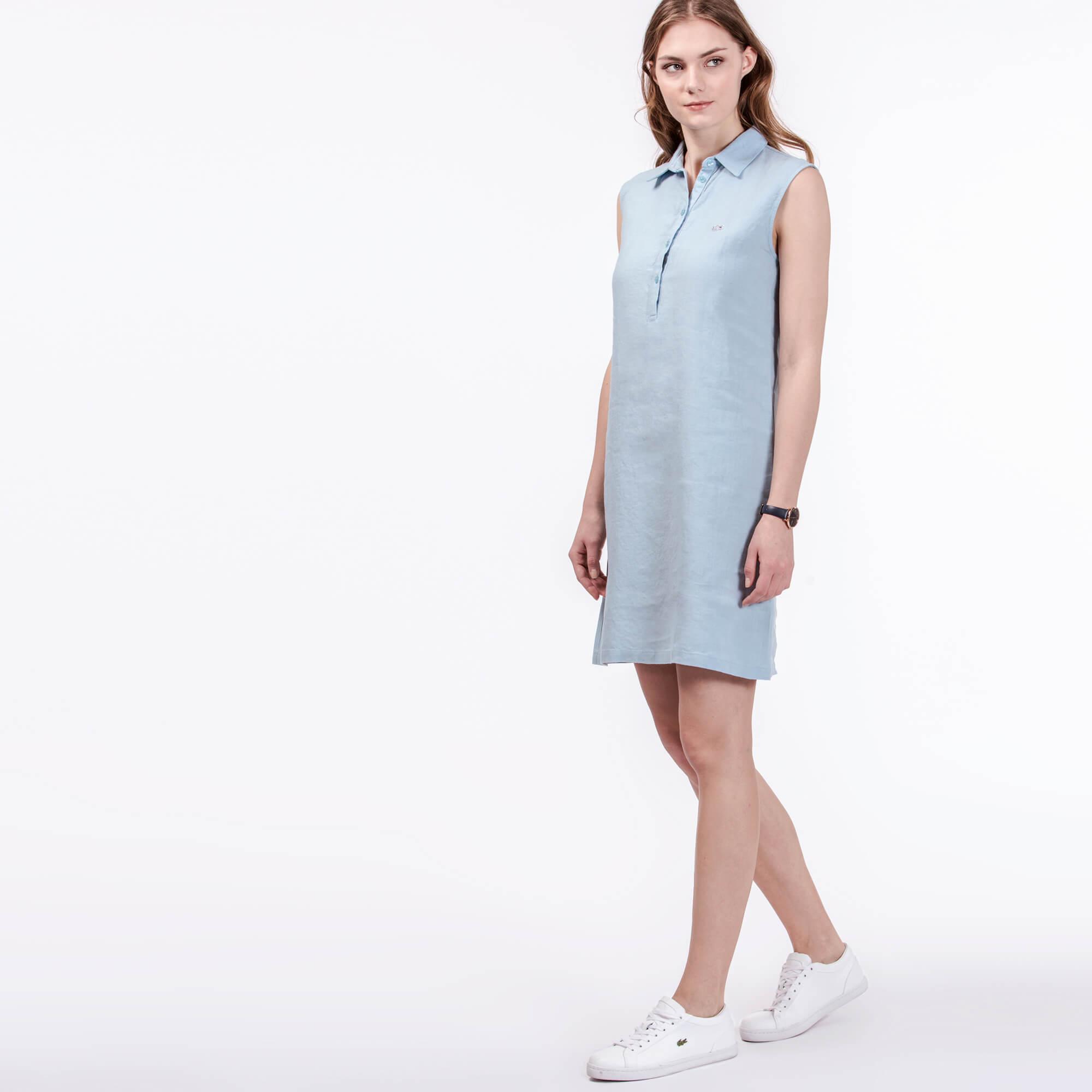 Платье LacosteПлатья и юбки<br>Детали: женское платье из льна  \ Материал: 100% лен \ Страна производства: Турция