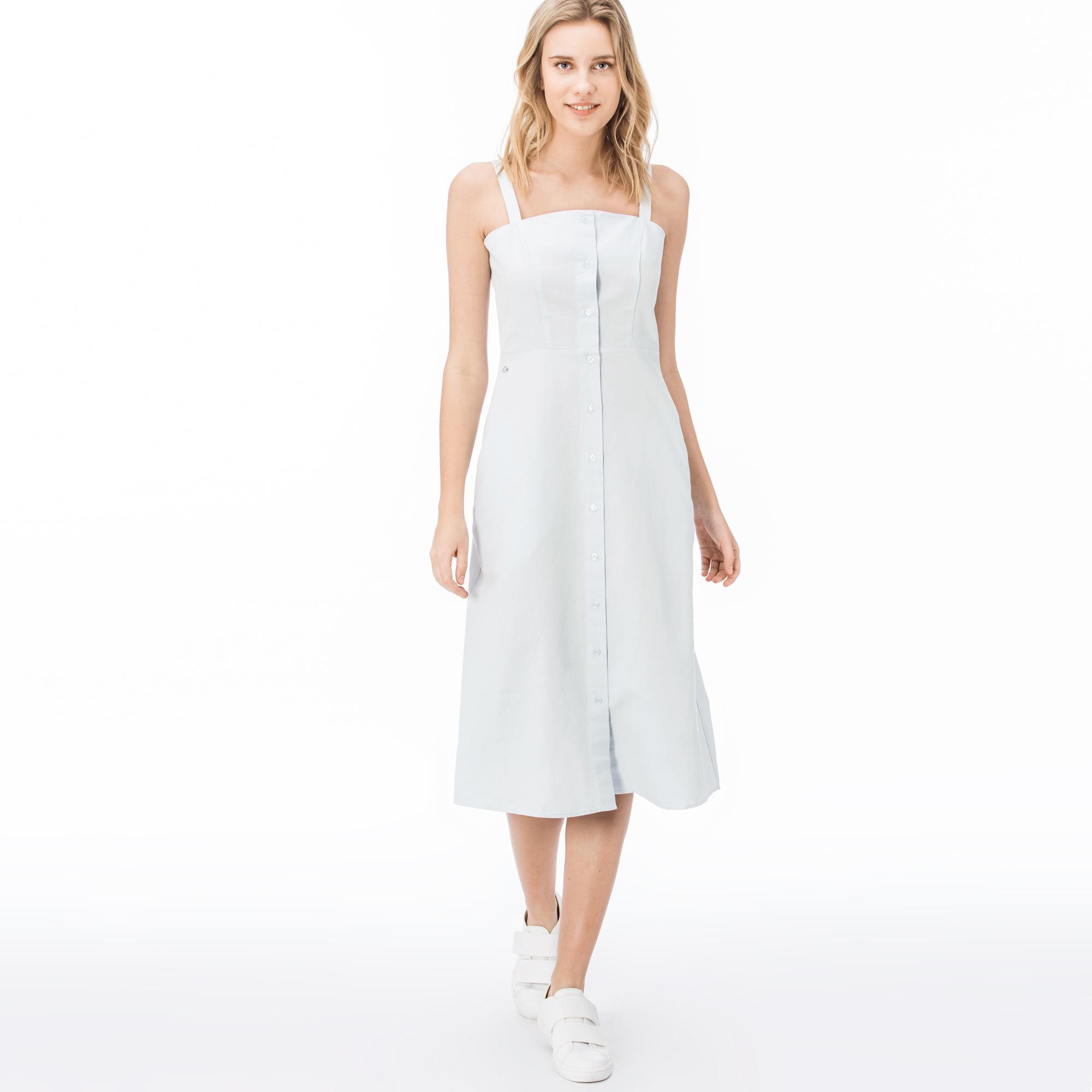 женское платье lacoste, голубое